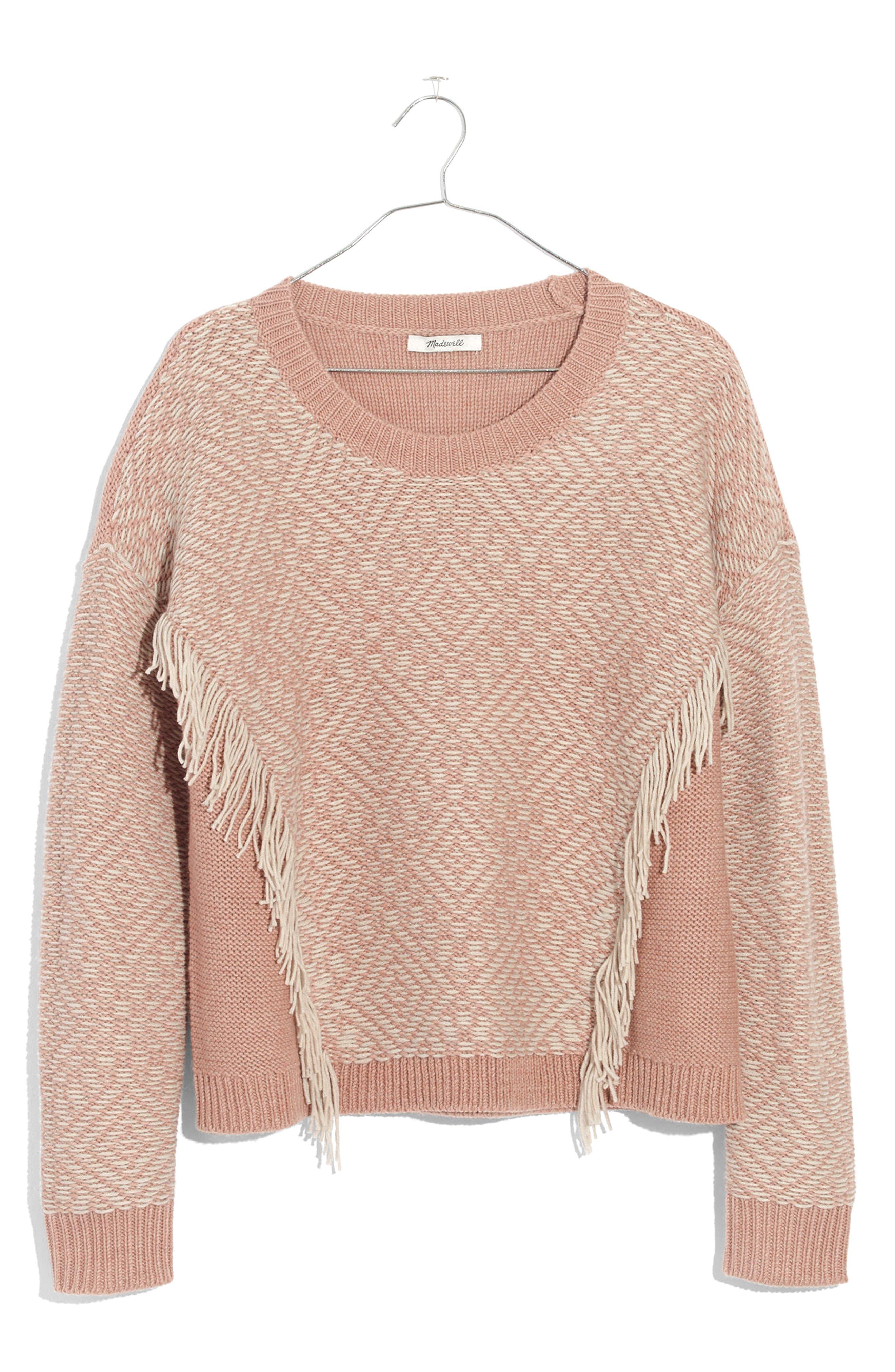 Reverse Diamond Pullover Sweater,                             Alternate thumbnail 3, color,                             Heather Voile