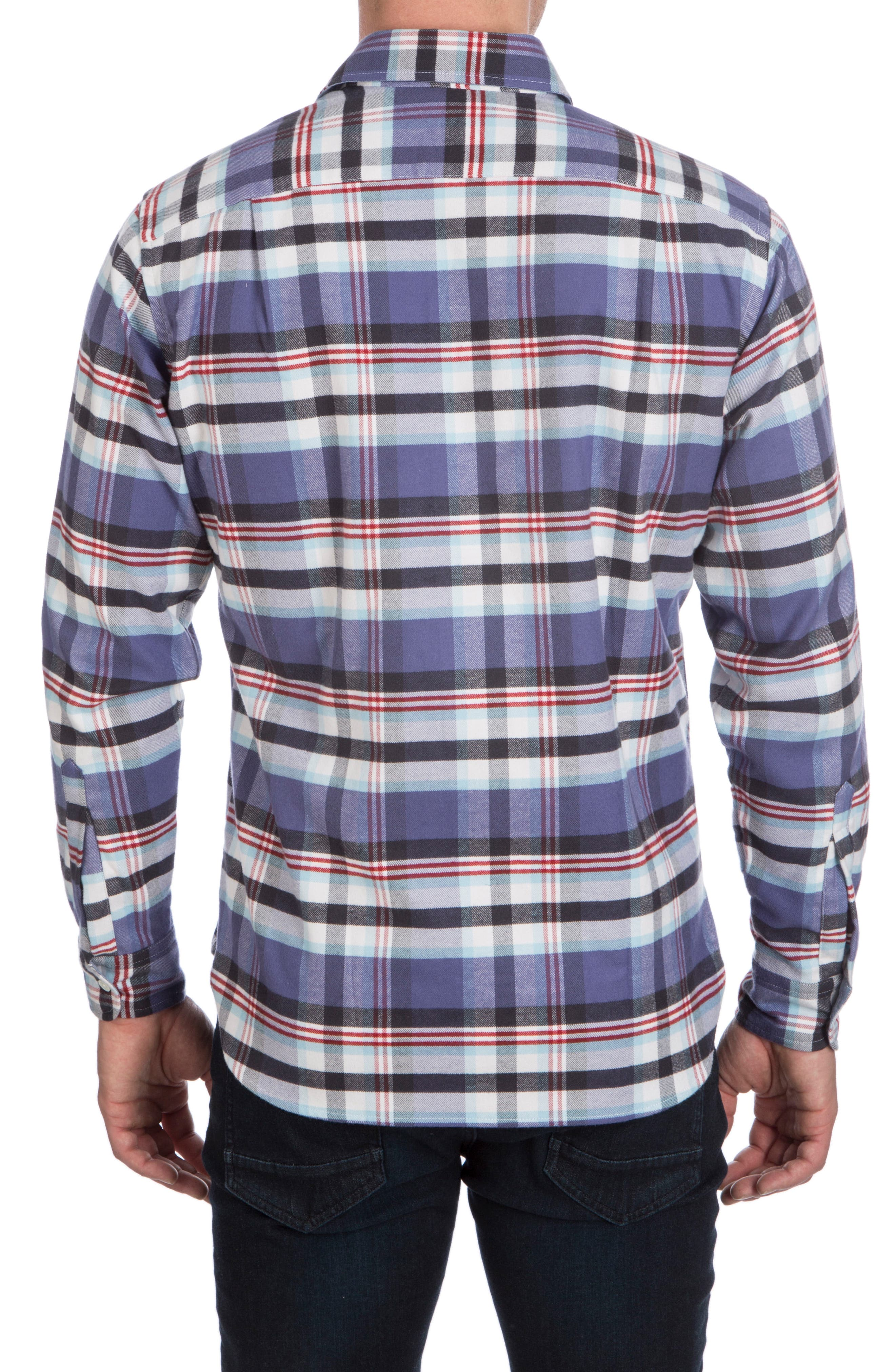 Flannel Sport Shirt,                             Alternate thumbnail 2, color,                             Fig