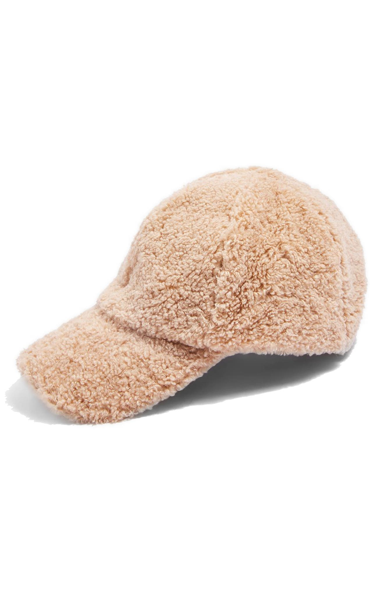 Main Image - Topshop Faux Fur Baseball Cap