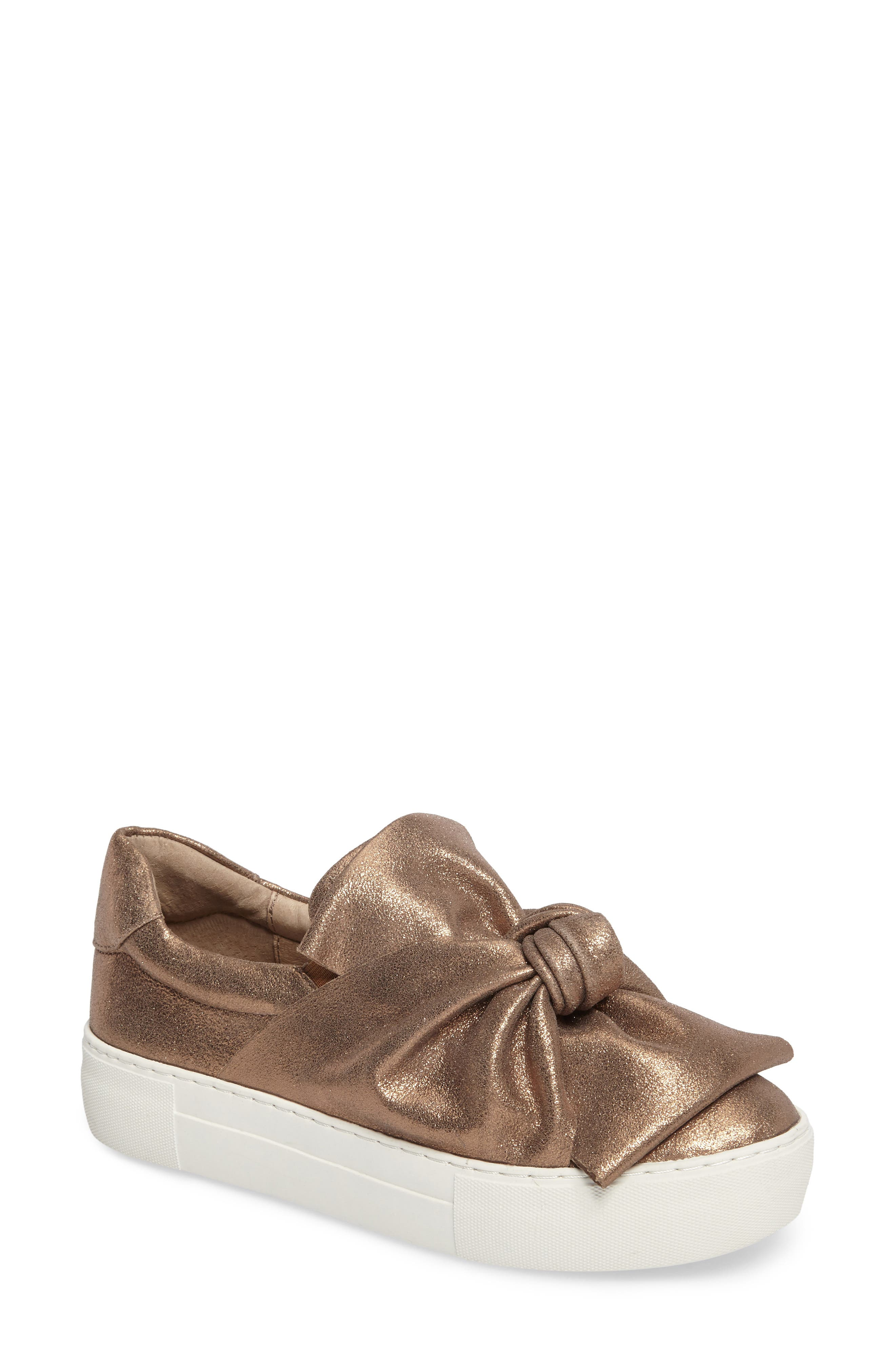 Audra Slip-On Sneaker,                             Main thumbnail 1, color,                             Taupe Leather