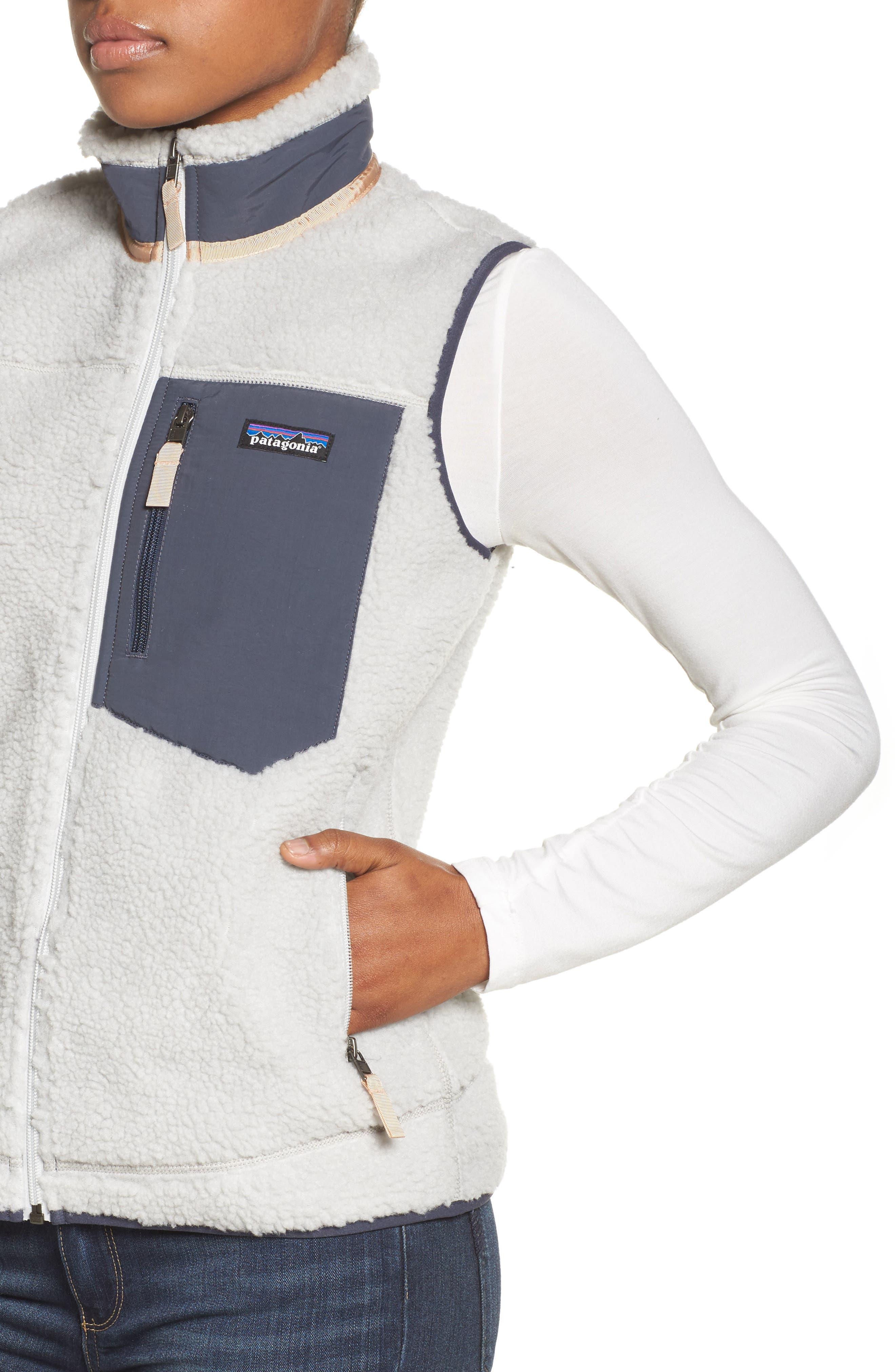 Classic Retro-X<sup>®</sup> Fleece Vest,                             Alternate thumbnail 4, color,                             Tailored Grey W/ Smolder Blue