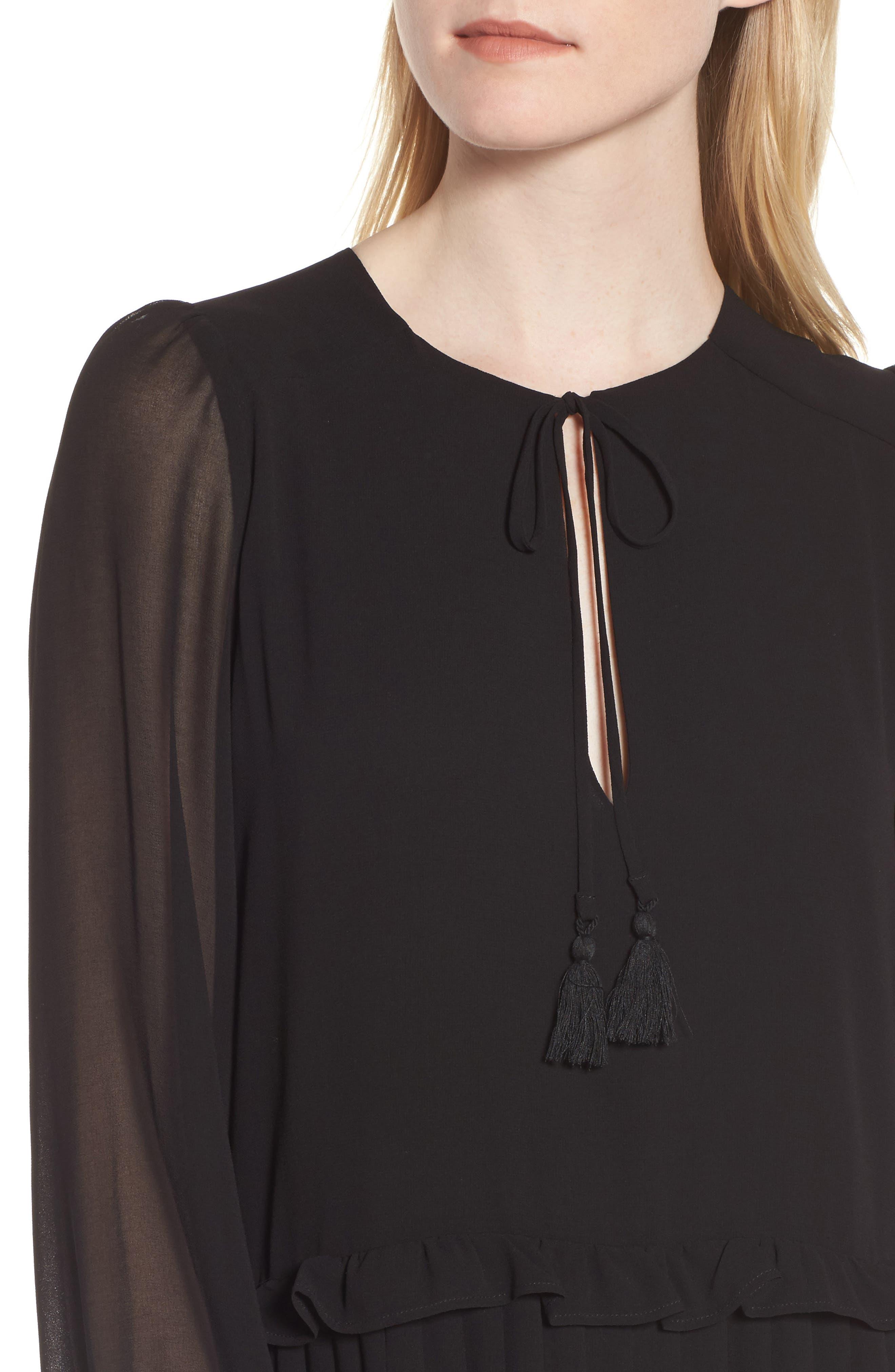 Morrison Shift Dress,                             Alternate thumbnail 4, color,                             Black