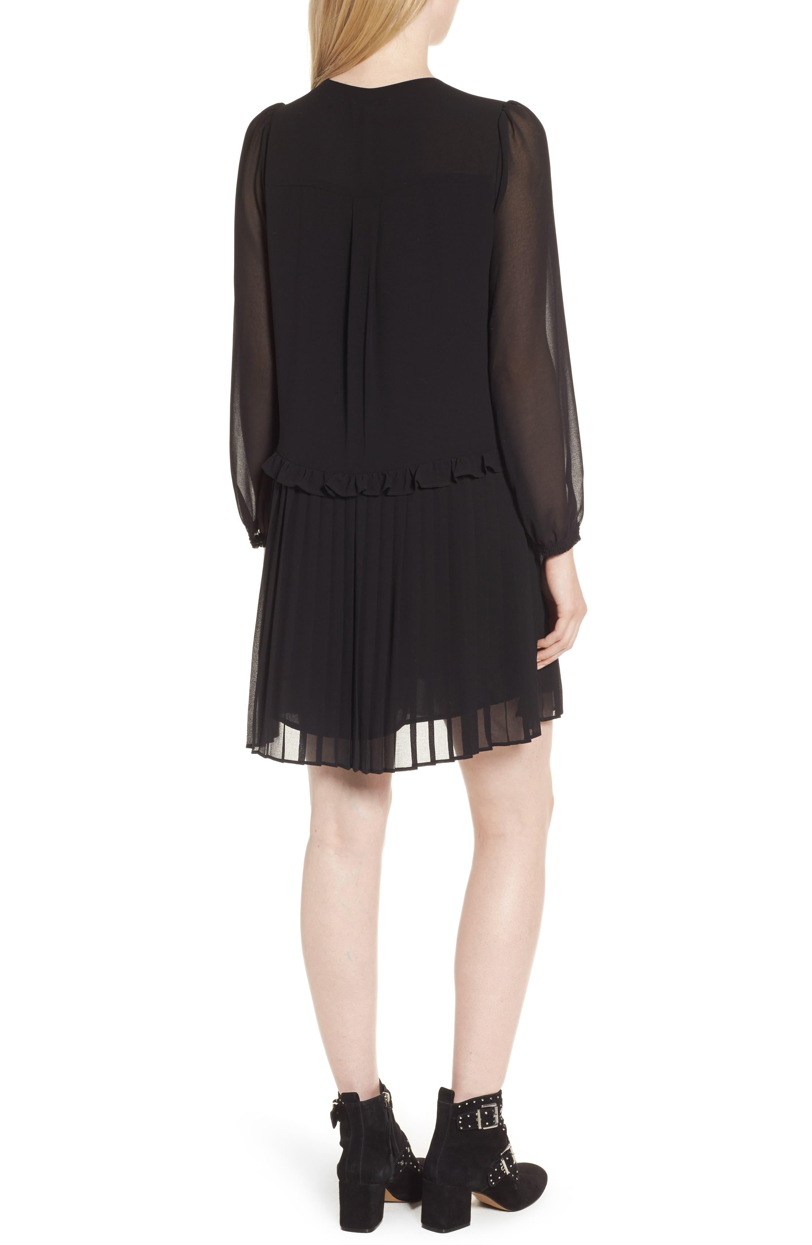Morrison Shift Dress,                             Alternate thumbnail 2, color,                             Black