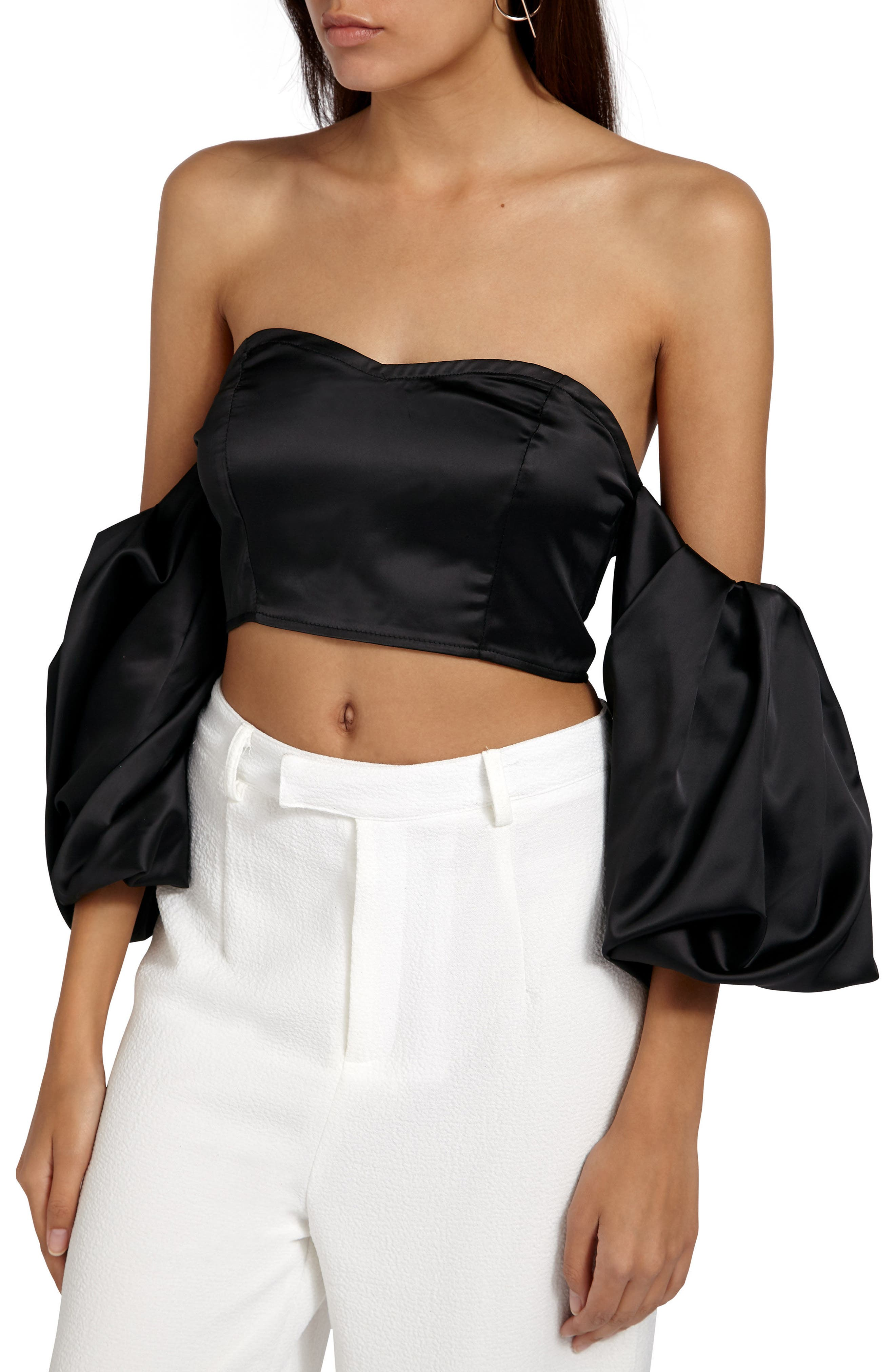 Alternate Image 3  - Missguided Off the Shoulder Crop Top