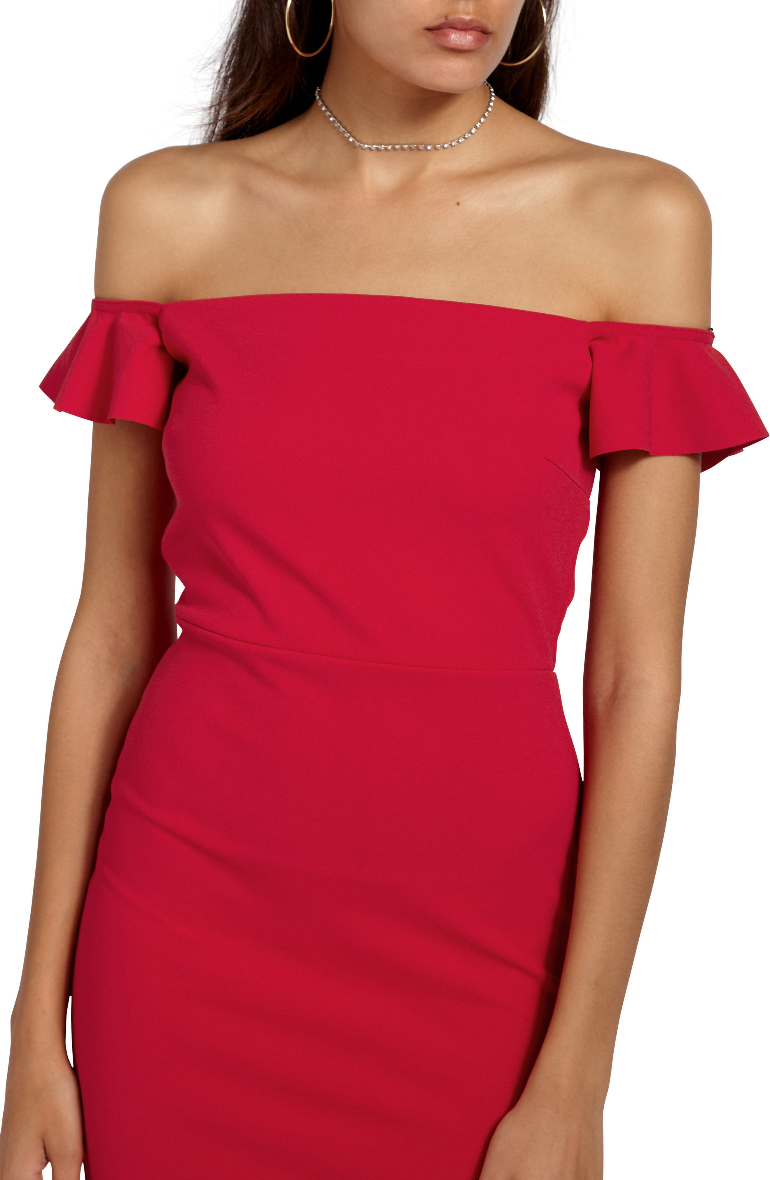 Alternate Image 4  - Missguided Bardot Gown