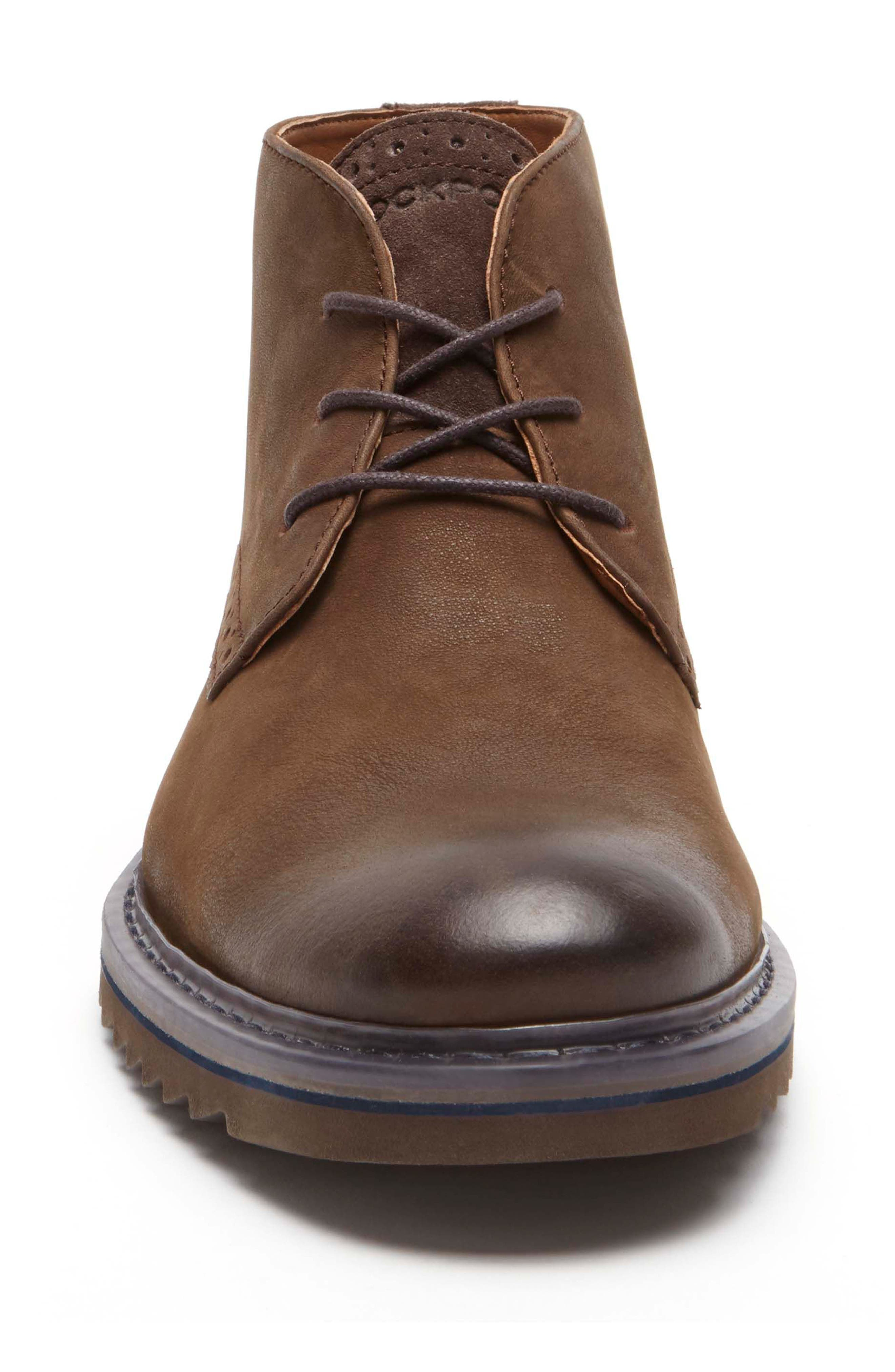 Jaxson Chukka Boot,                             Alternate thumbnail 4, color,                             Brown/ Brown Leather