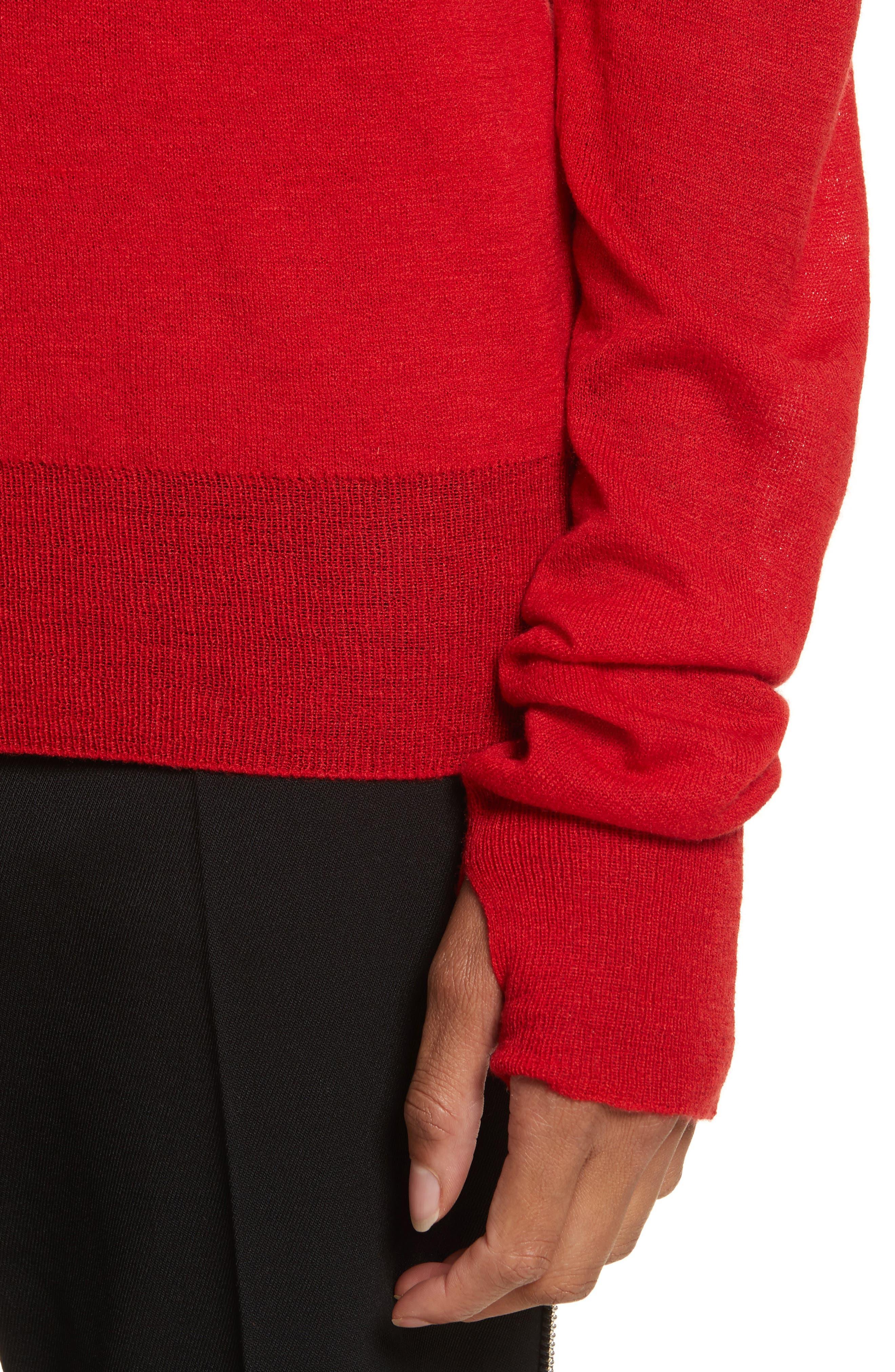 Alternate Image 4  - Helmut Lang Sheer Panel Wool & Silk Turtleneck Sweater