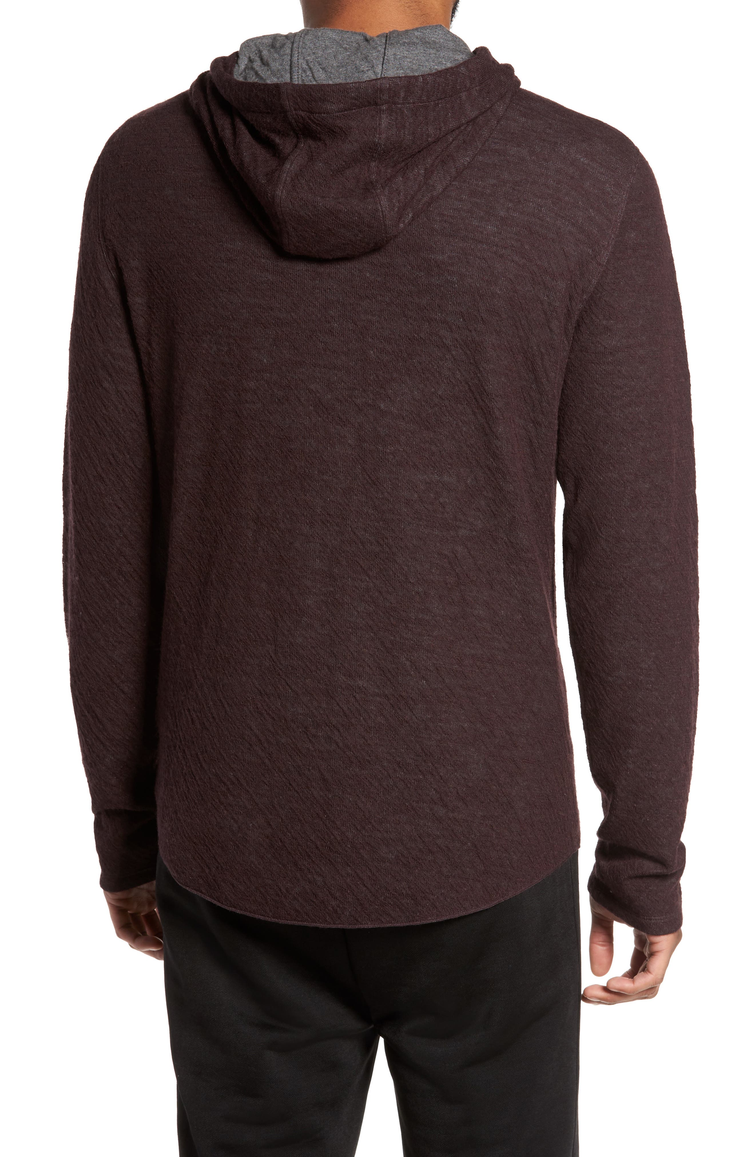 Alternate Image 2  - Vince Contrast Double Knit Cotton & Wool Hoodie