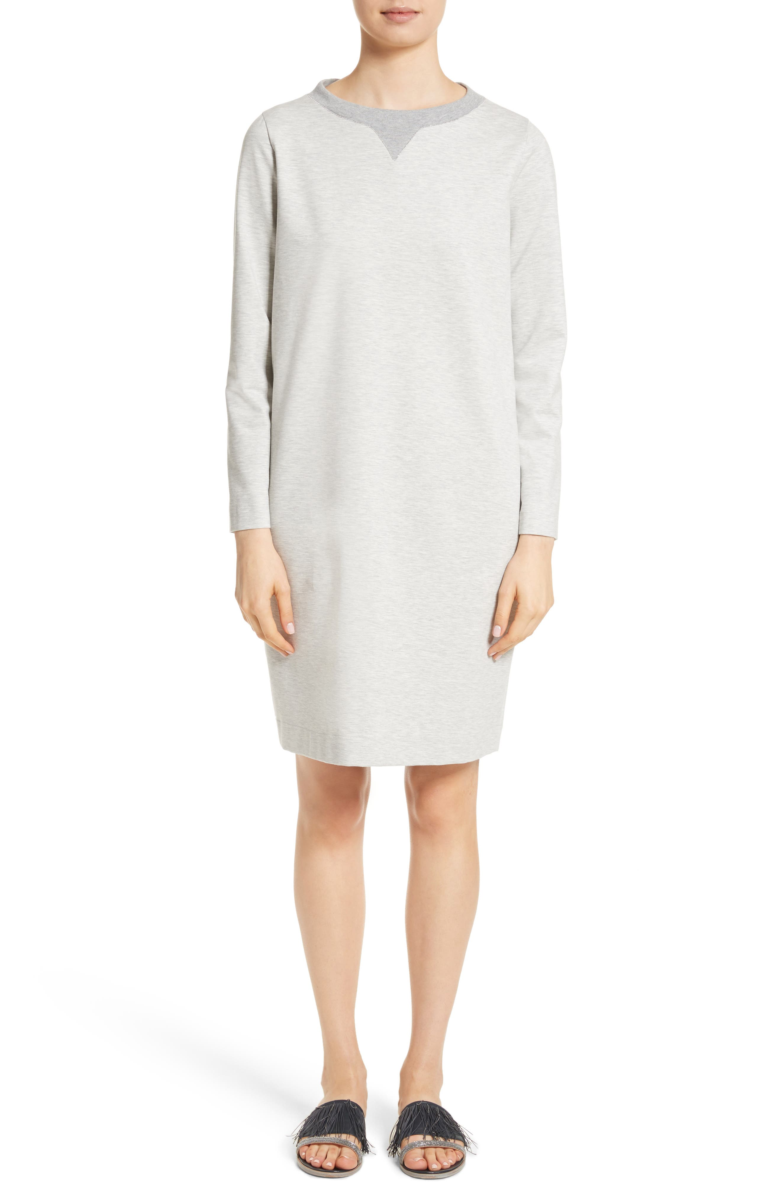Main Image - Fabiana Filippi Rodier Jersey Sweatshirt Dress
