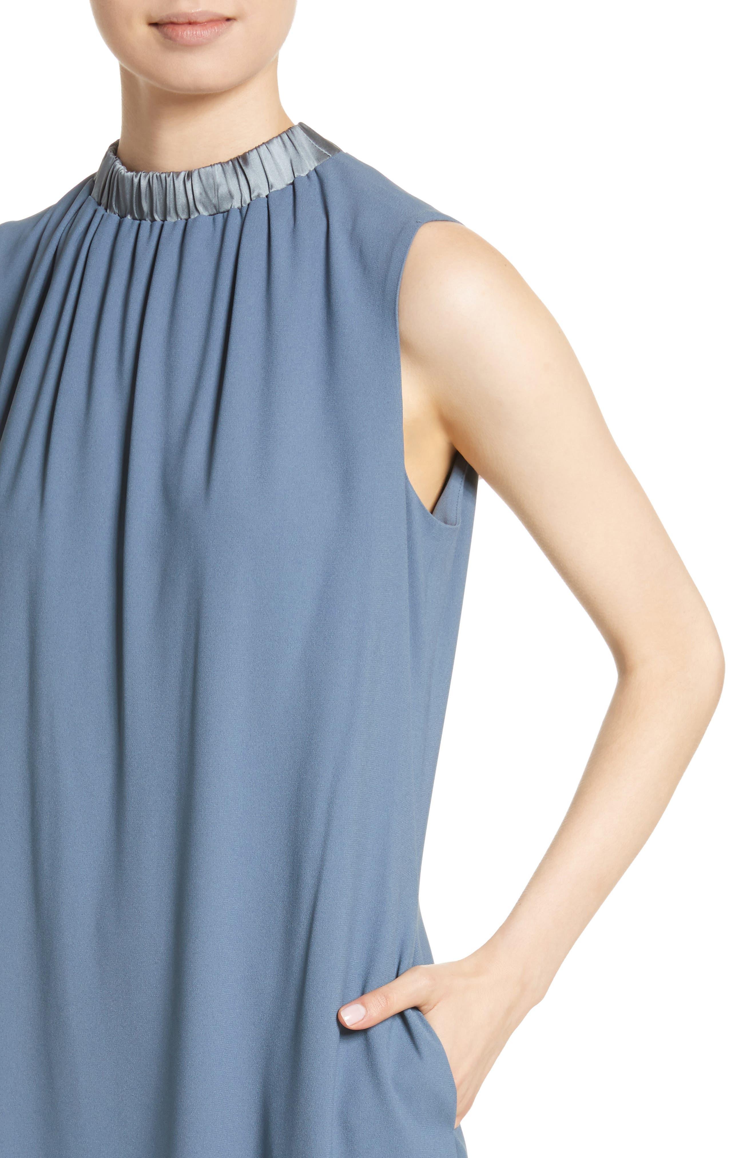 Alternate Image 4  - Fabiana Filippi Satin Trim Crepe Dress