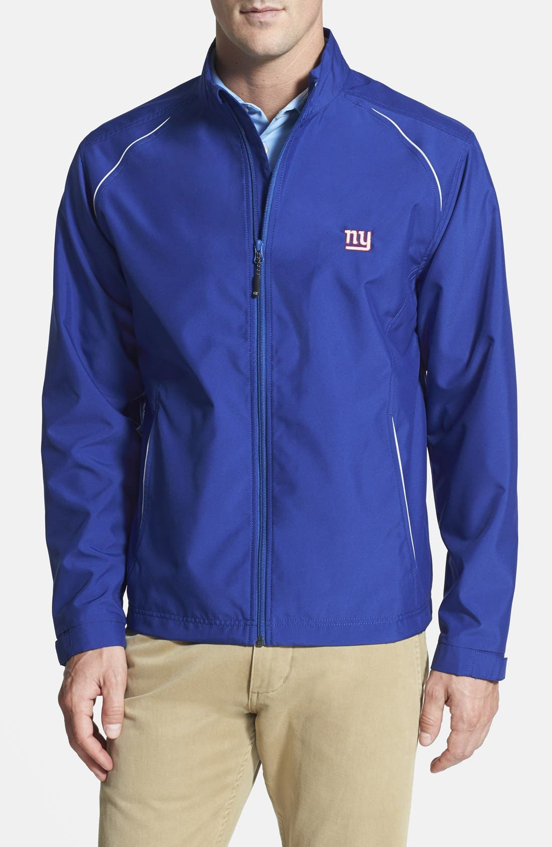 New York Giants - Beacon WeatherTec Wind & Water Resistant Jacket,                             Main thumbnail 1, color,                             Tour Blue