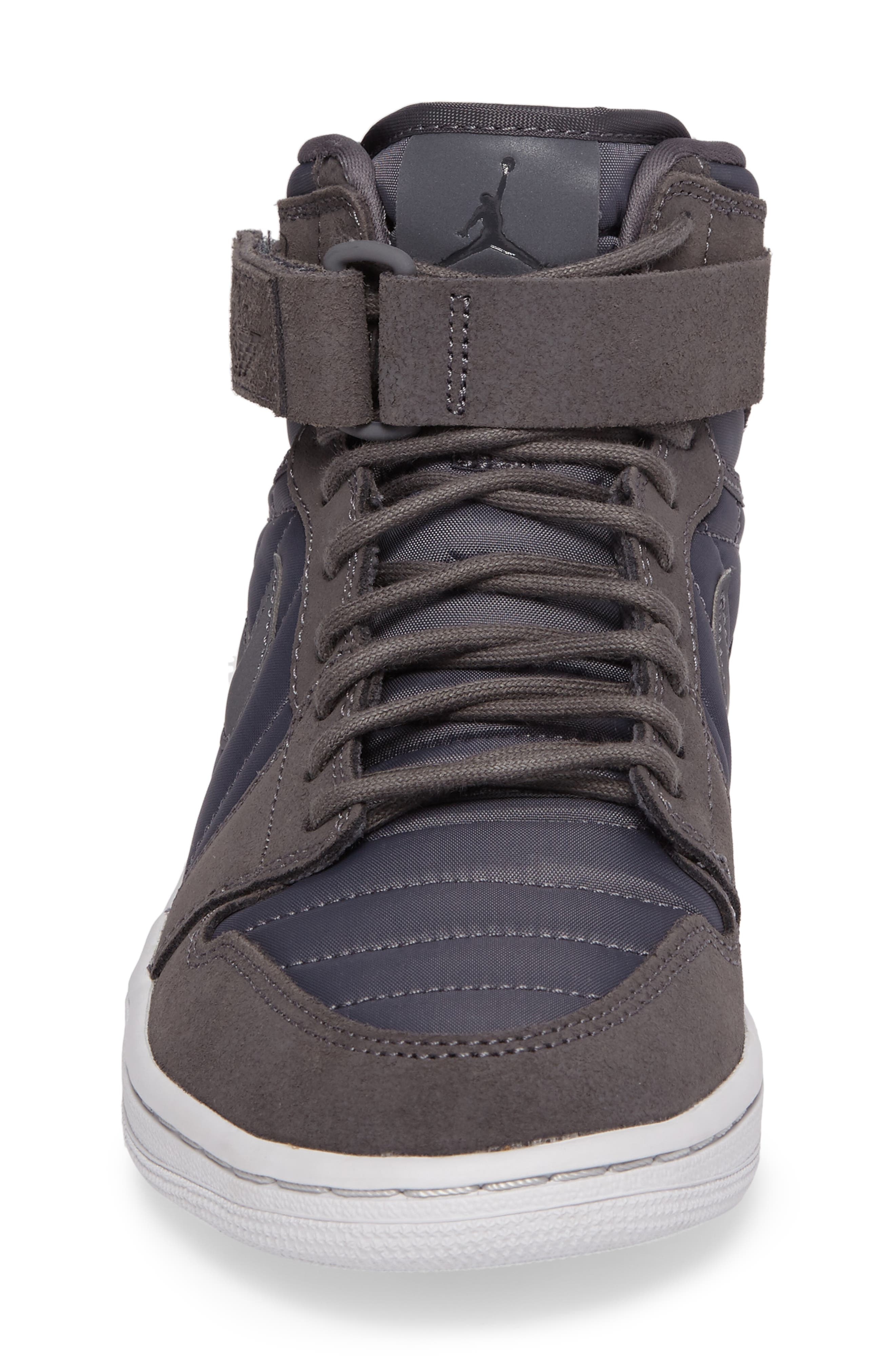 Air Jordan 1 Sneaker,                             Alternate thumbnail 4, color,                             Dark Grey/Anthracite/Platinum