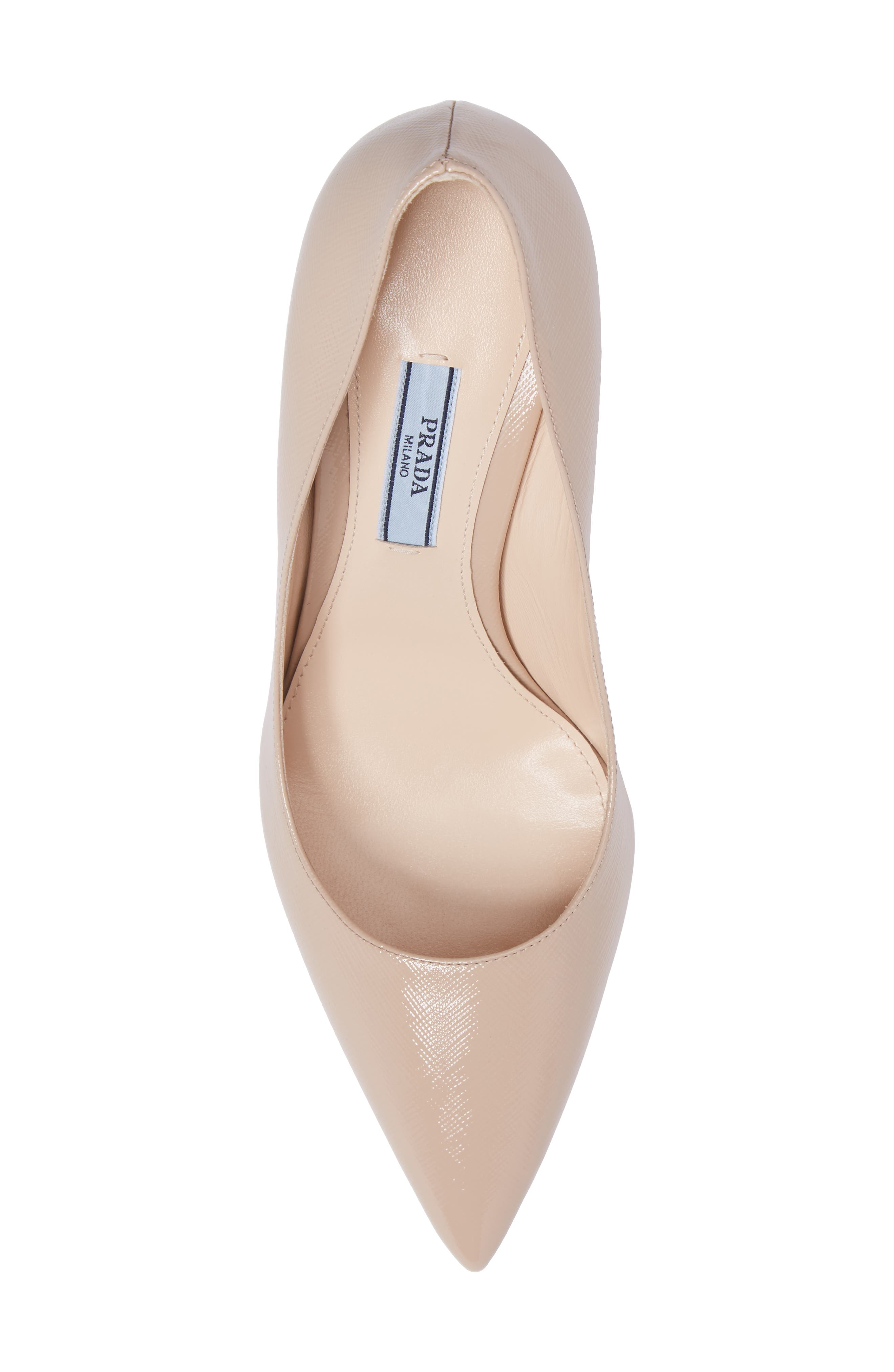 Pointy Toe Pump,                             Alternate thumbnail 4, color,                             Cipria