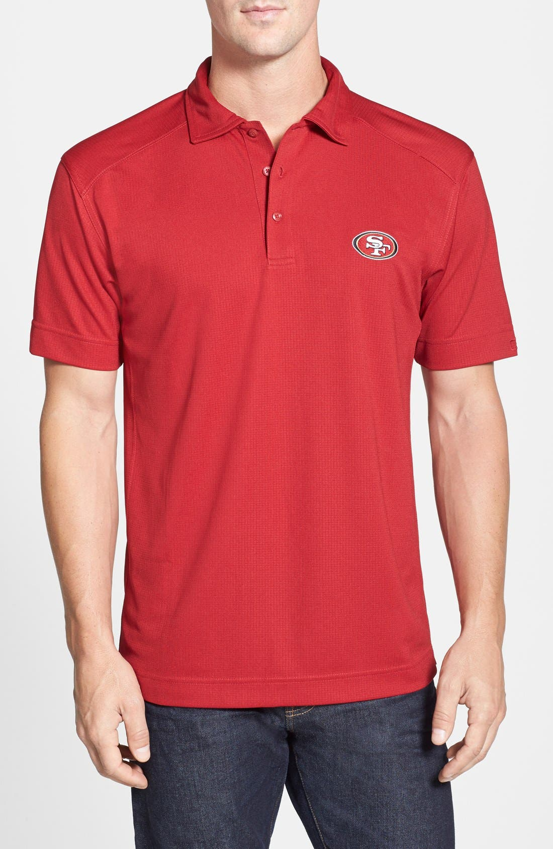 San Francisco 49ers - Genre DryTec Moisture Wicking Polo,                             Main thumbnail 1, color,                             Cardinal Red