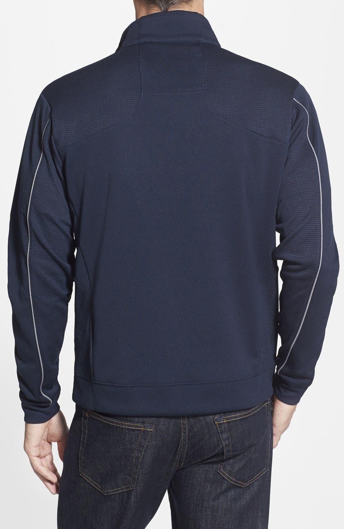 Denver Broncos - Edge DryTec Moisture Wicking Half Zip Pullover,                             Alternate thumbnail 2, color,                             Navy Blue