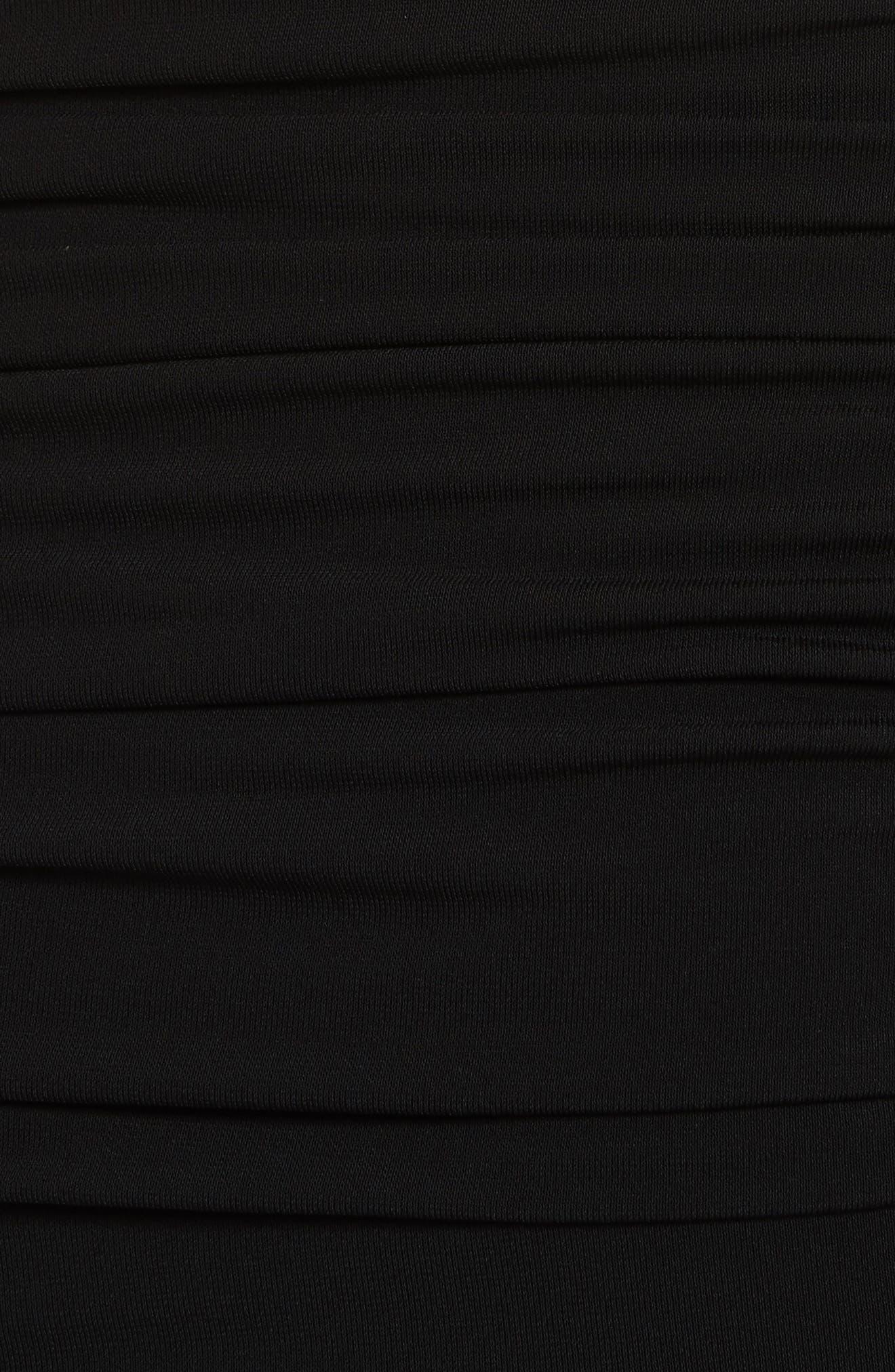 Blaise Off the Shoulder Ruched Dress,                             Alternate thumbnail 5, color,                             Black