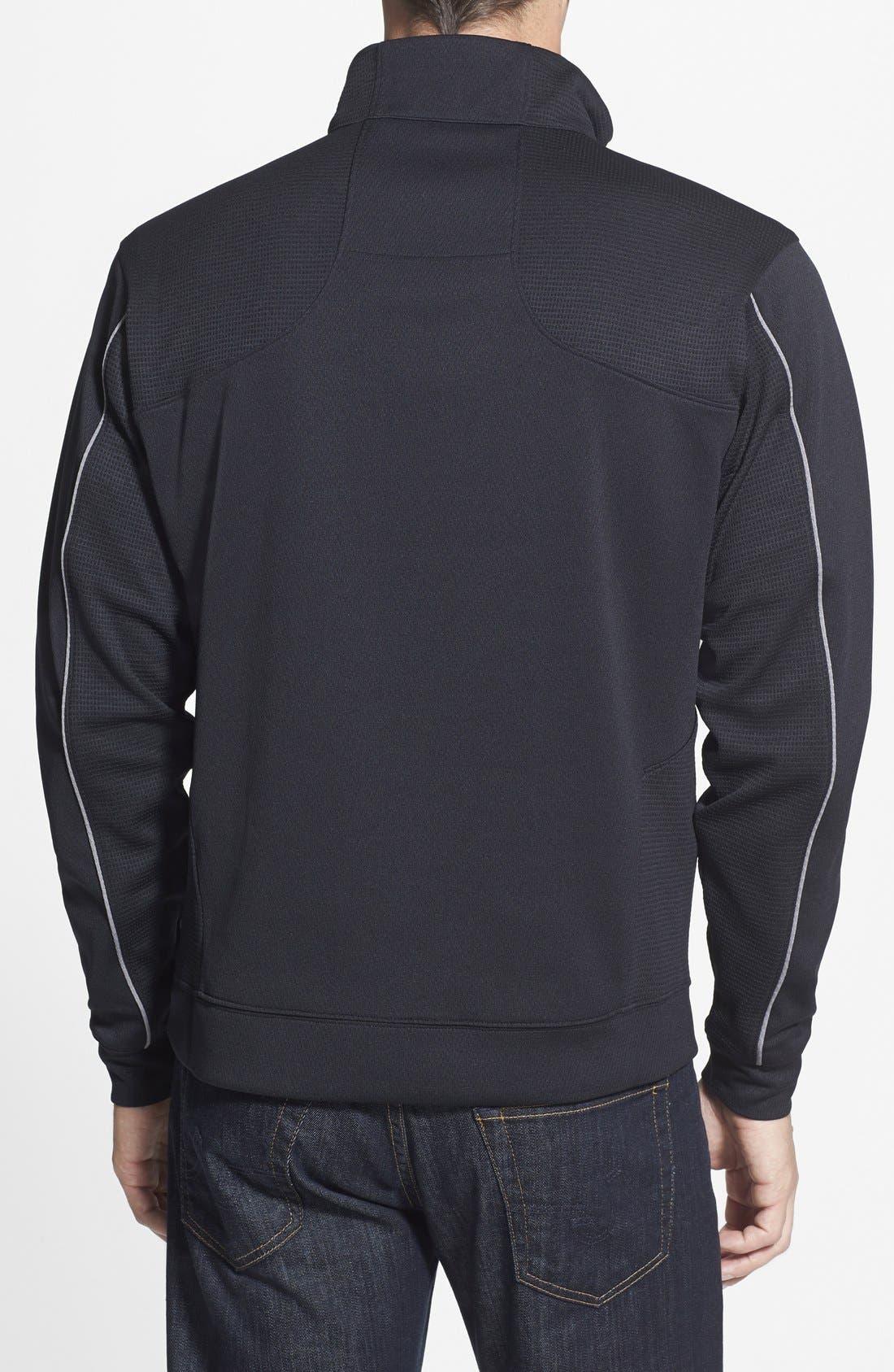 New Orleans Saints - Edge DryTec Moisture Wicking Half Zip Pullover,                             Alternate thumbnail 2, color,                             Black