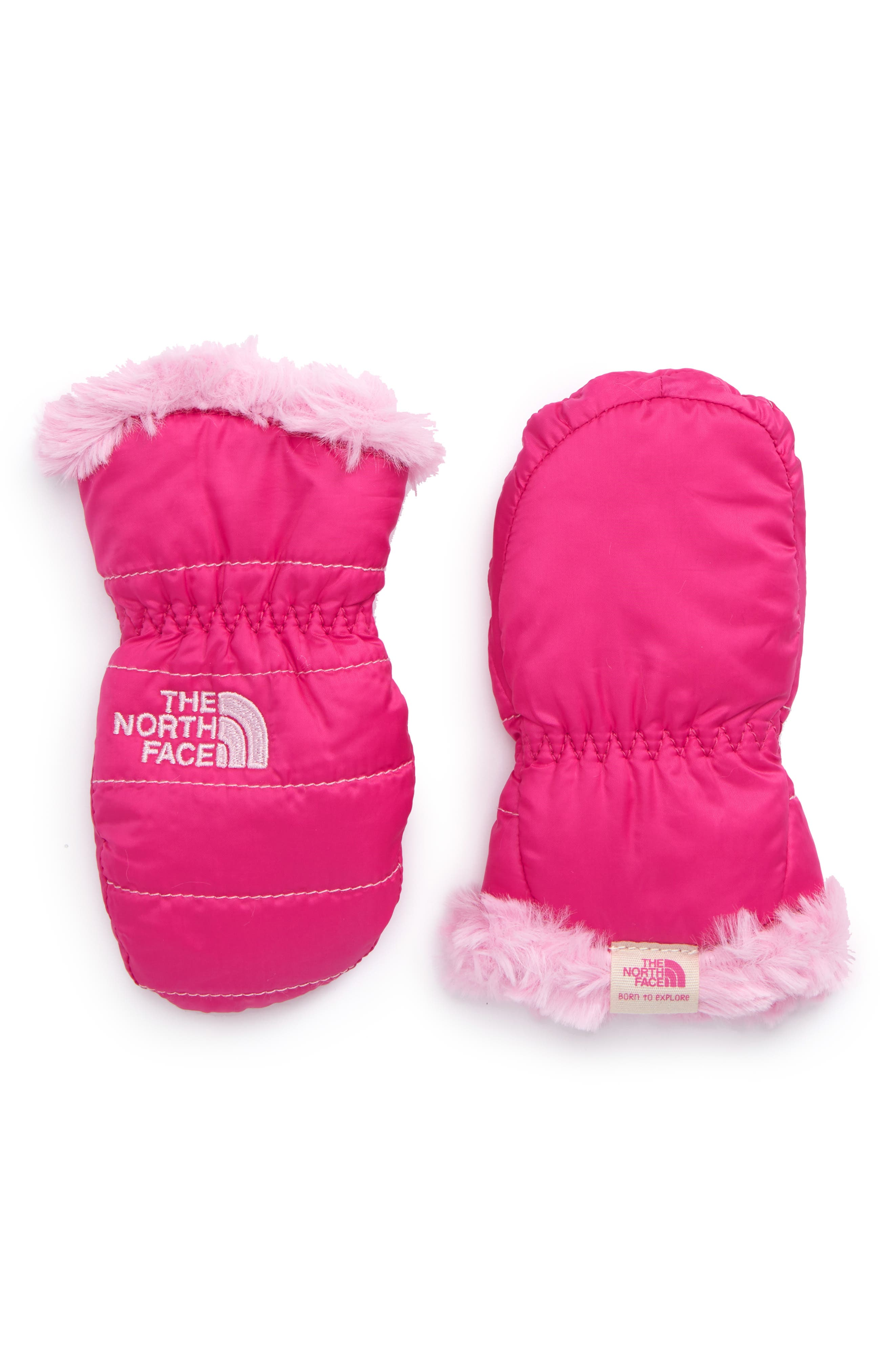 Main Image - The North Face Mossbud Reversible Mittens (Baby)