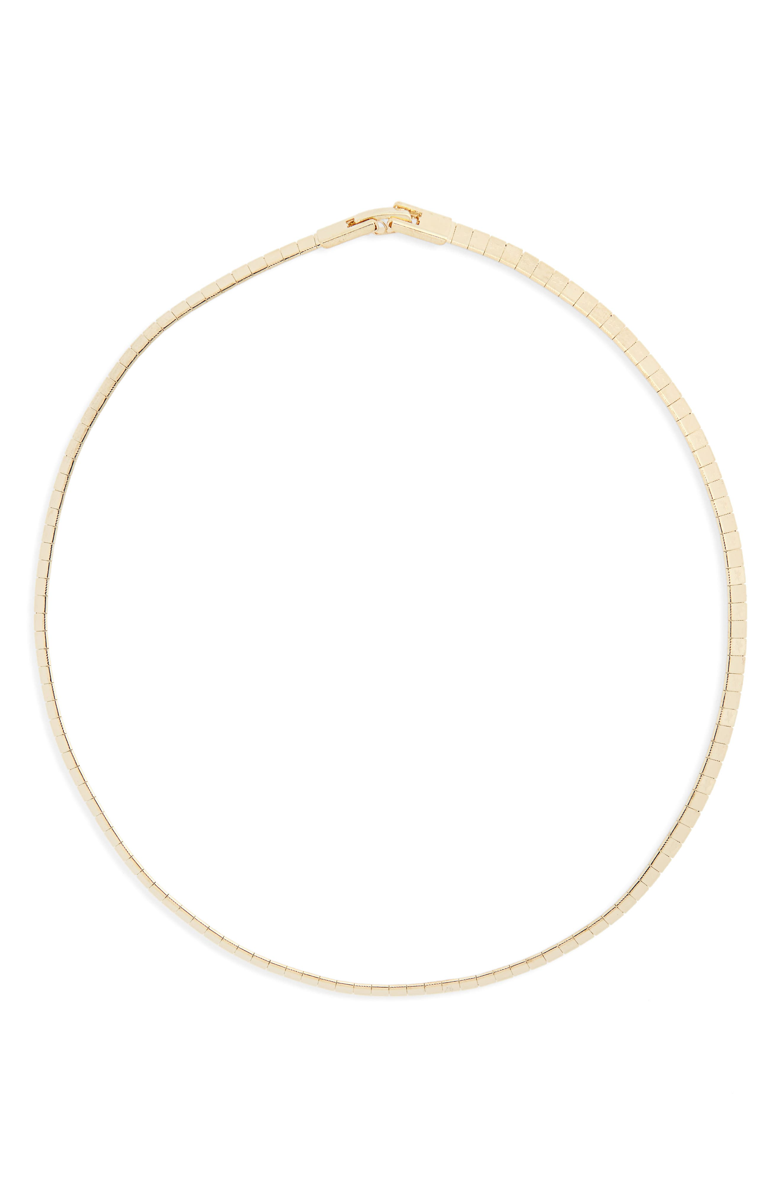 Thin Collar Necklace,                         Main,                         color, Gold