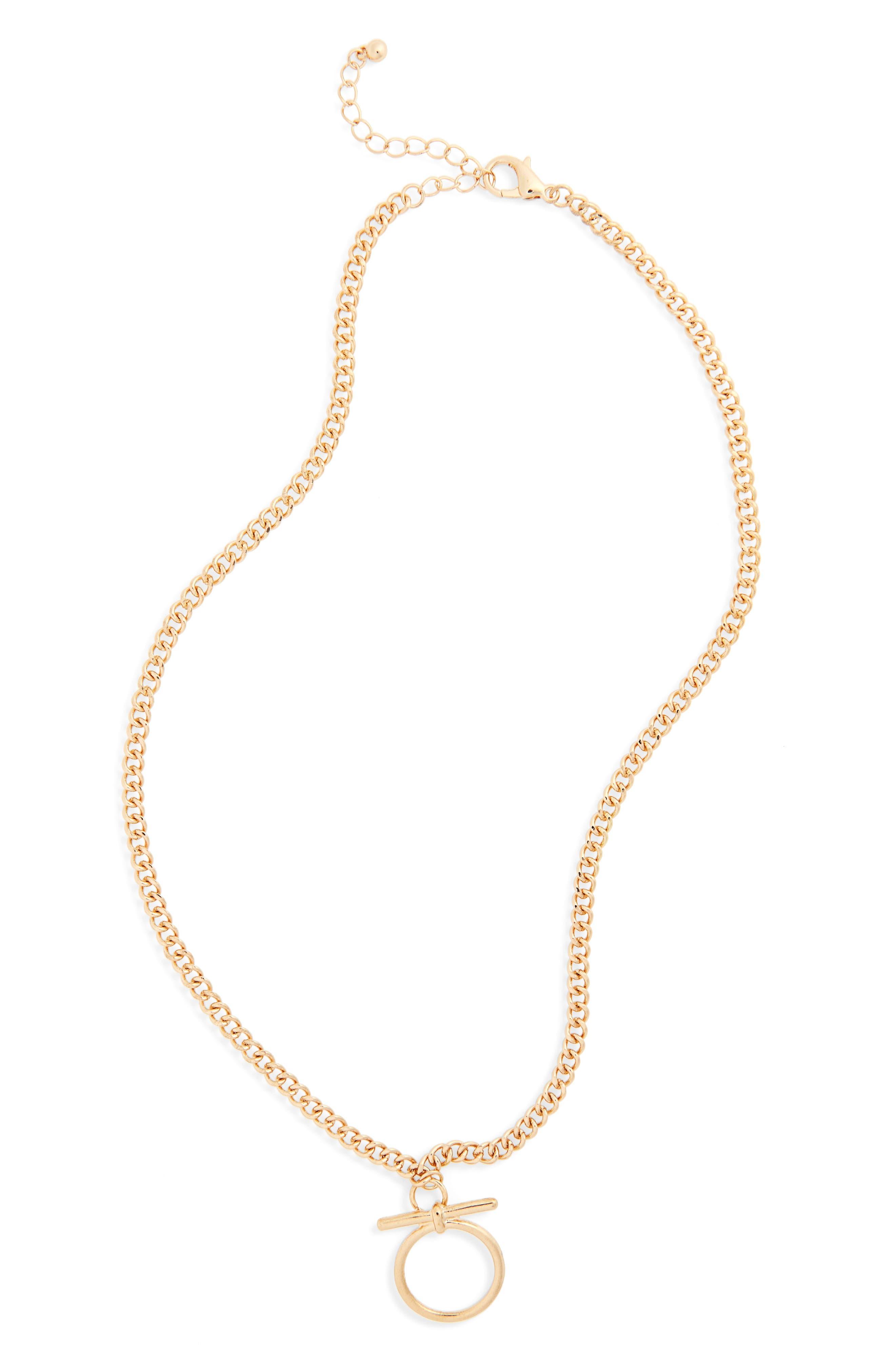 Pendant Necklace,                         Main,                         color, Gold