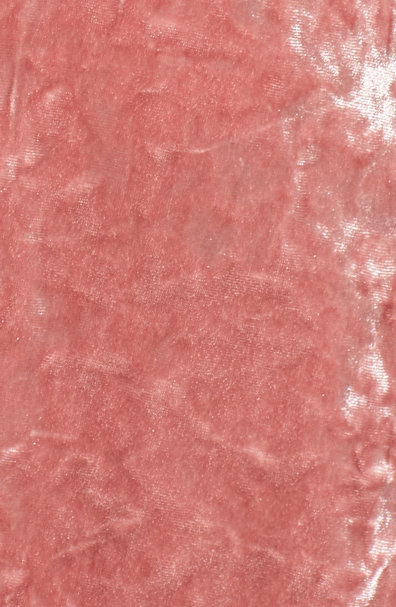 Alternate Image 4  - Chaus Crushed Velvet Sharkbite Hem Top