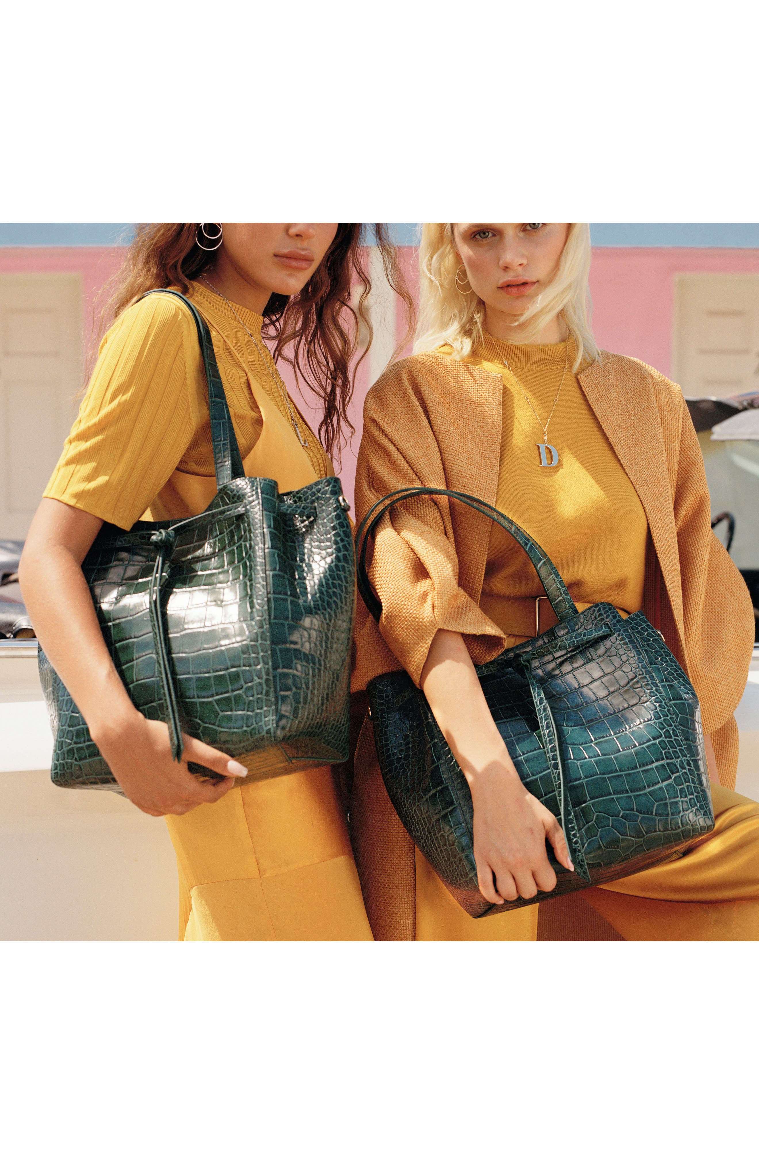 Alternate Image 6  - Pop & Suki Croc Embossed Carryall Tote (Nordstrom Exclusive)