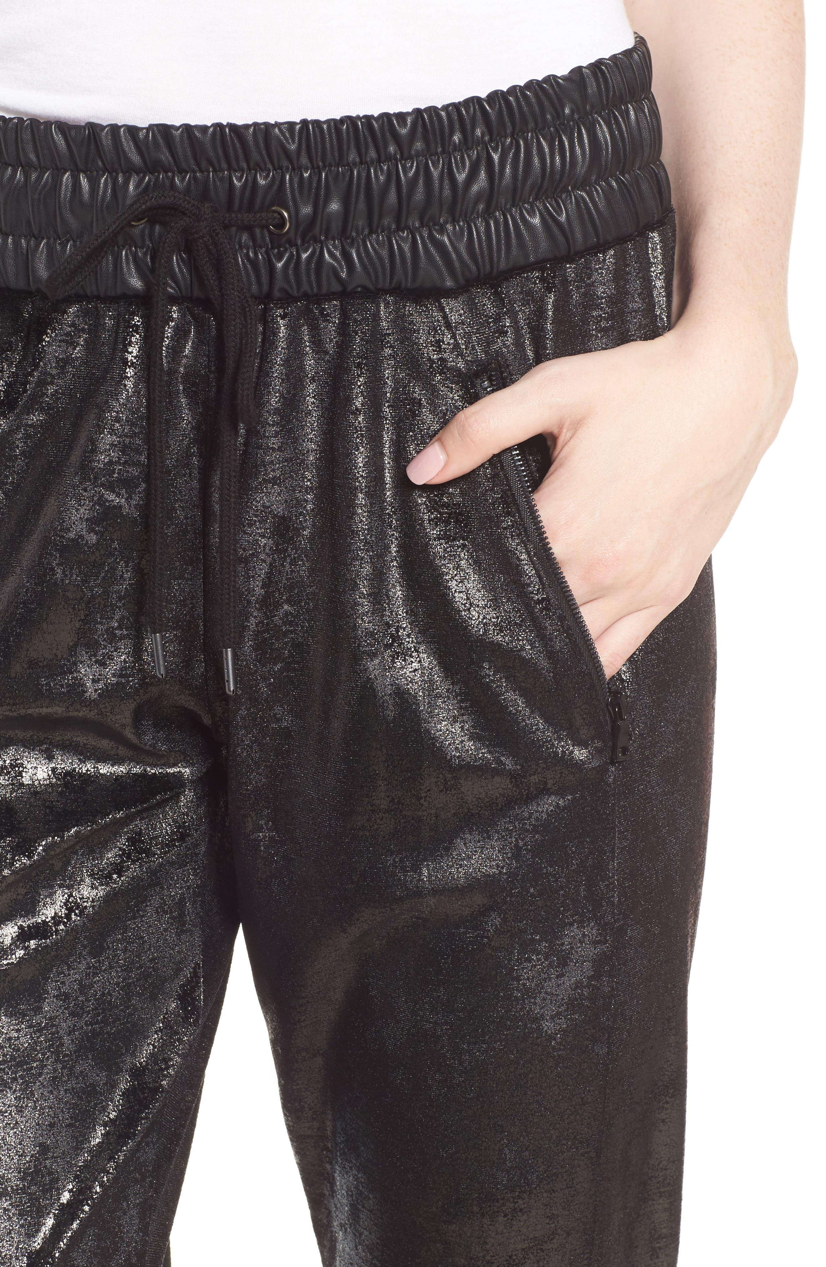 Randall Cuffed Sweatpants,                             Alternate thumbnail 4, color,                             Black
