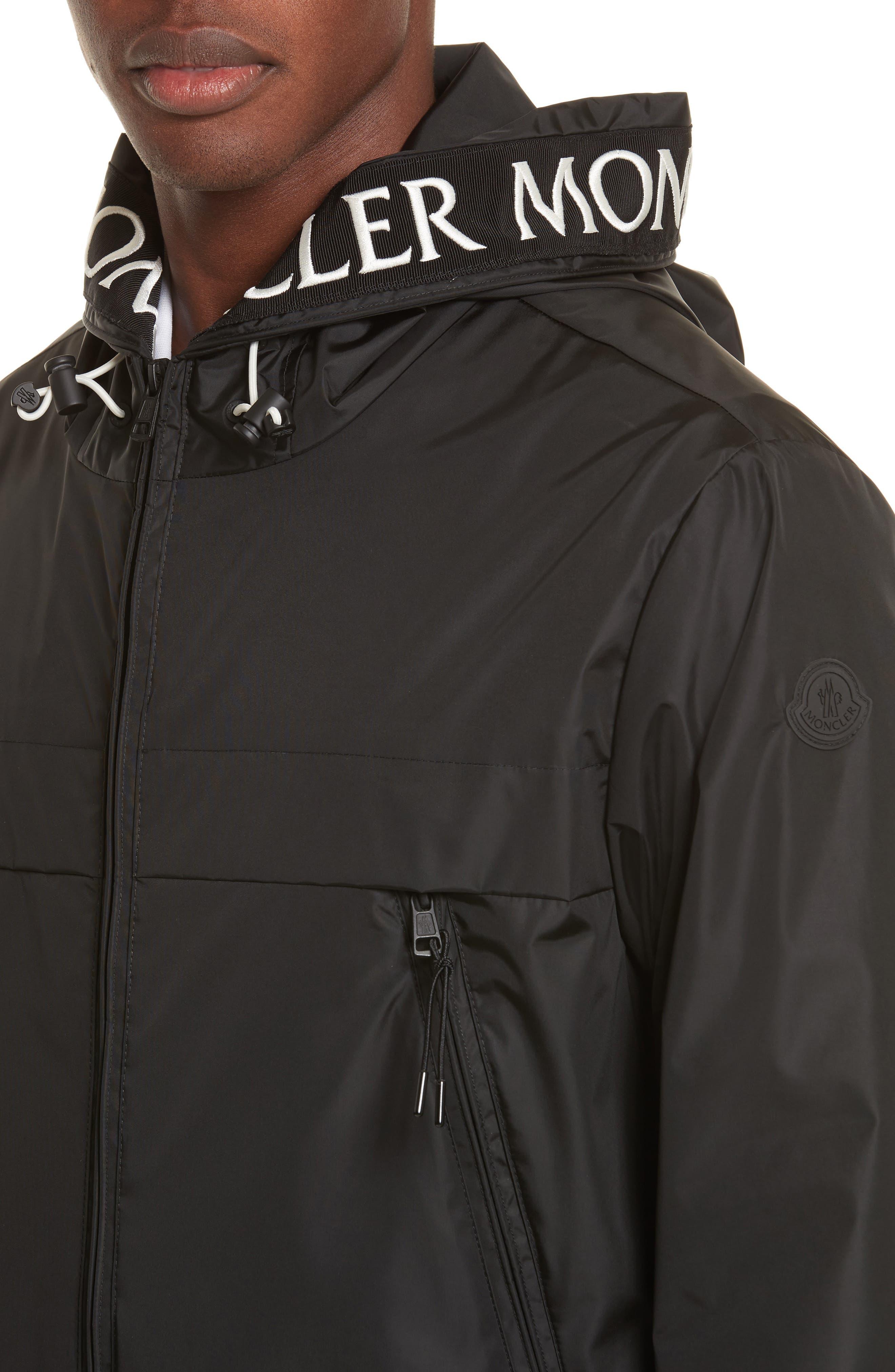 Massereau Zip Jacket,                             Alternate thumbnail 4, color,                             Black