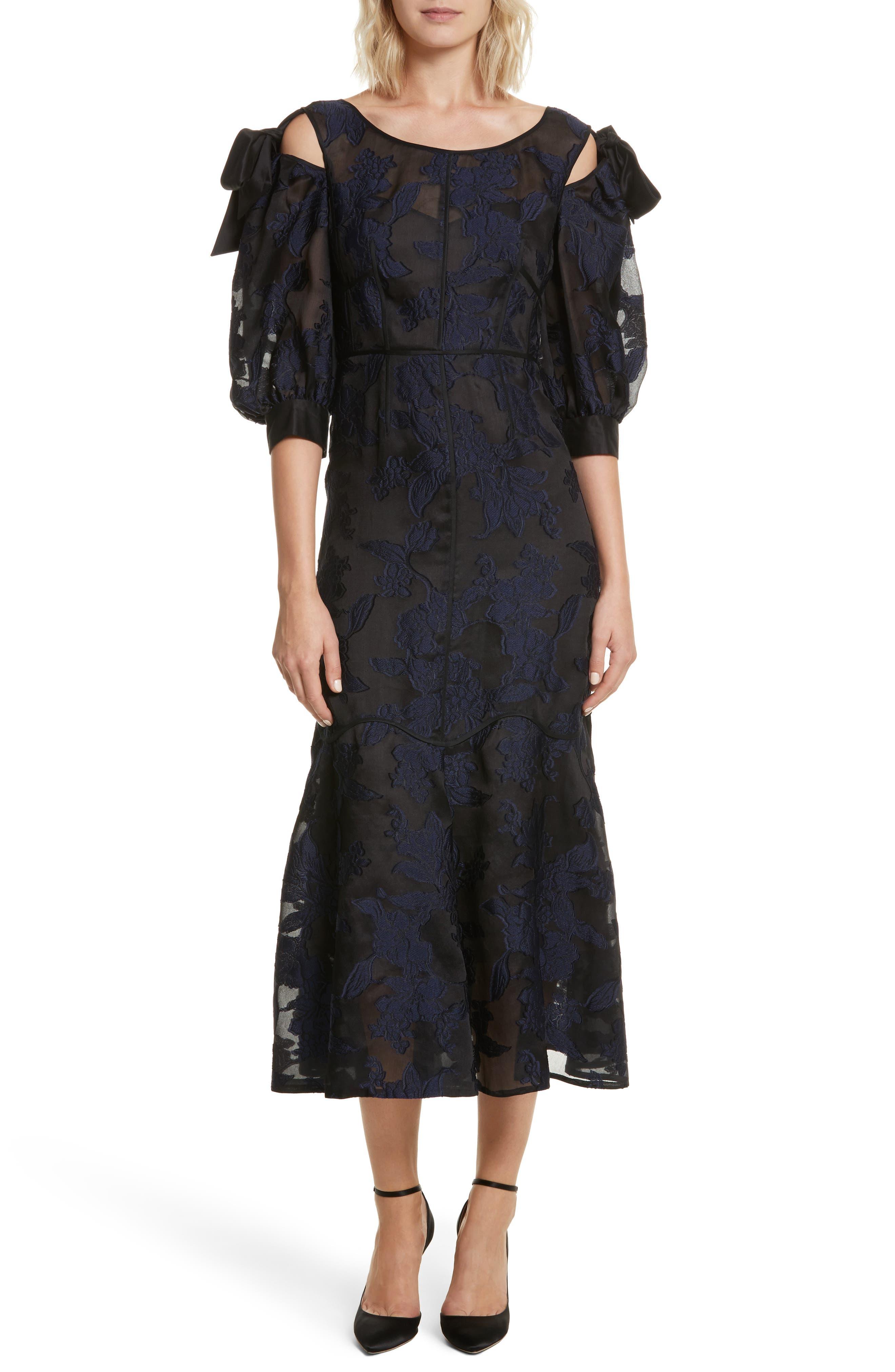 Main Image - Rebecca Taylor Floral Organza Maxi Dress