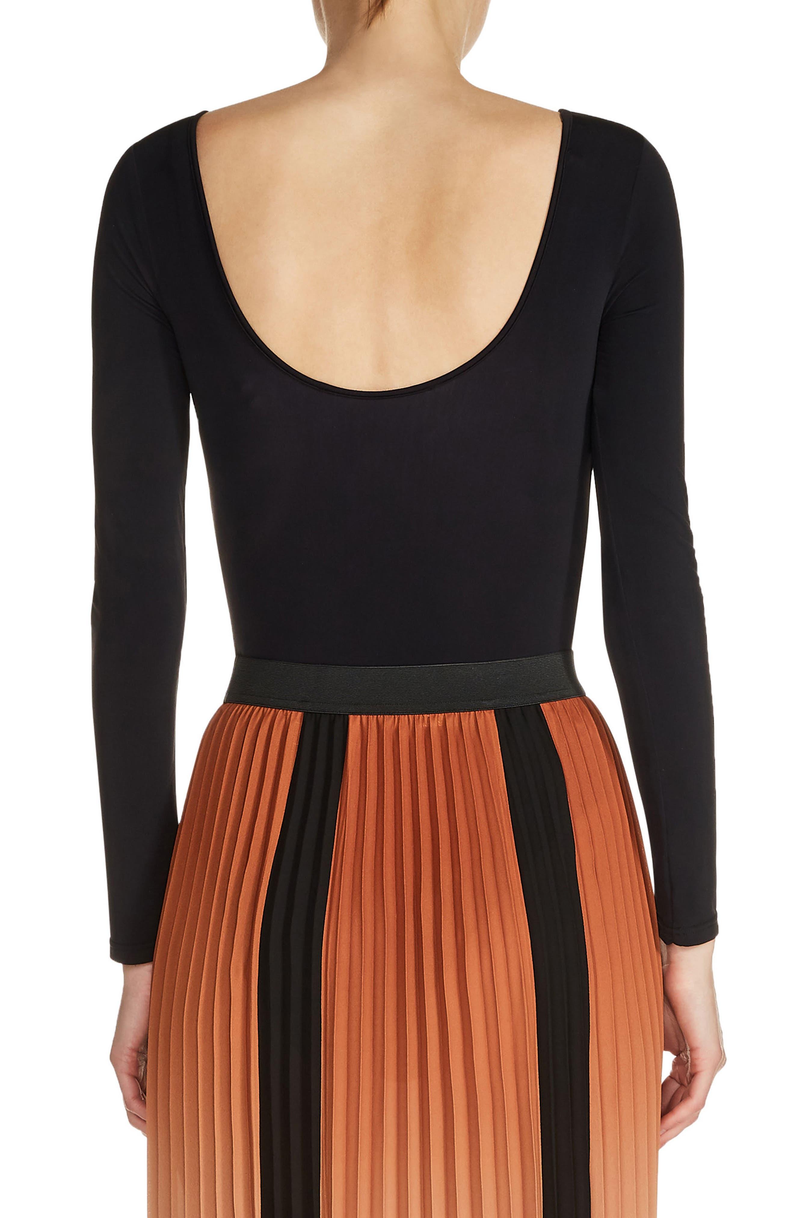 Scoop Back Bodysuit,                             Alternate thumbnail 2, color,                             Black
