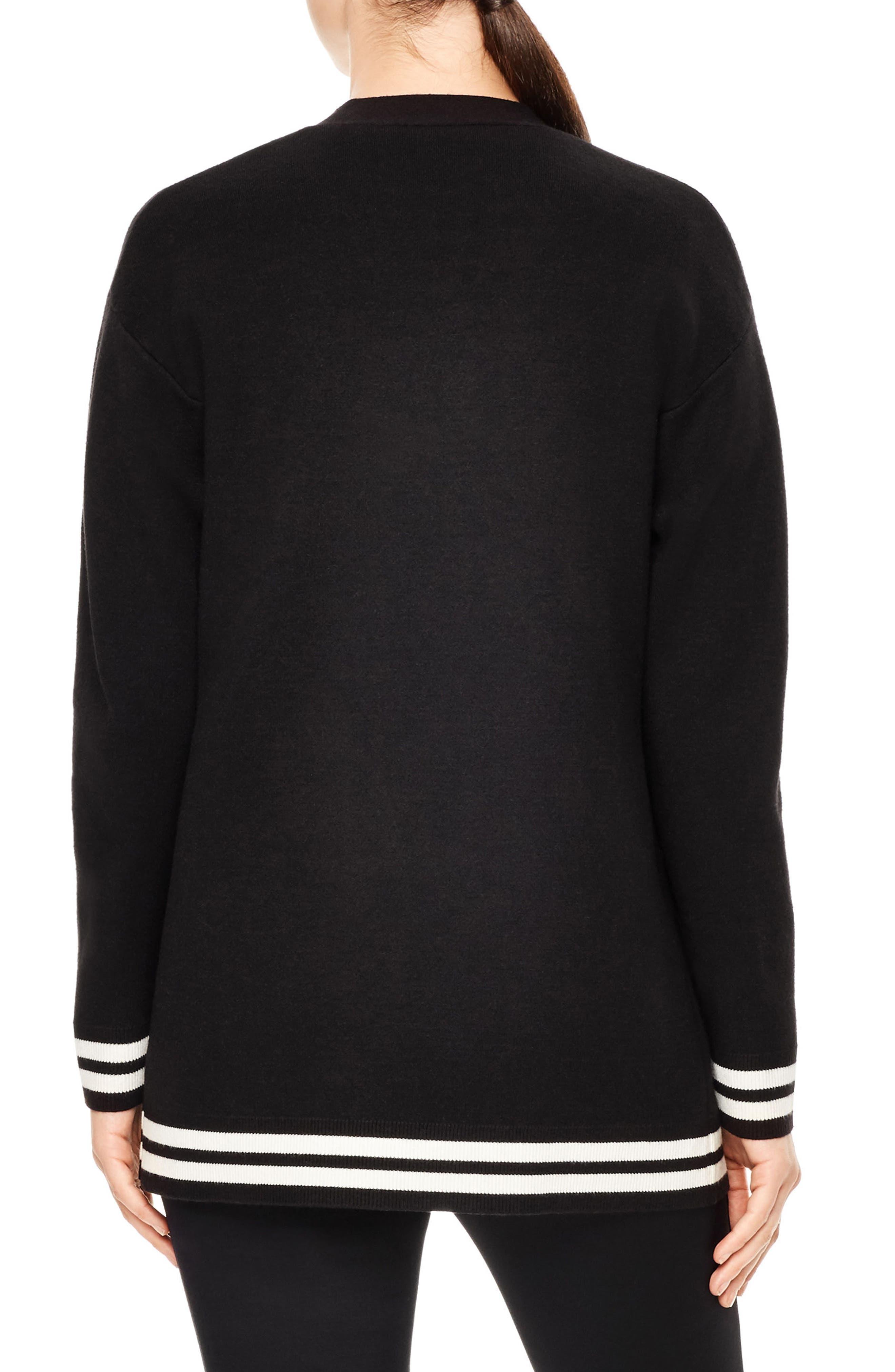 Gorka Embroidered Cardigan,                             Alternate thumbnail 2, color,                             Black