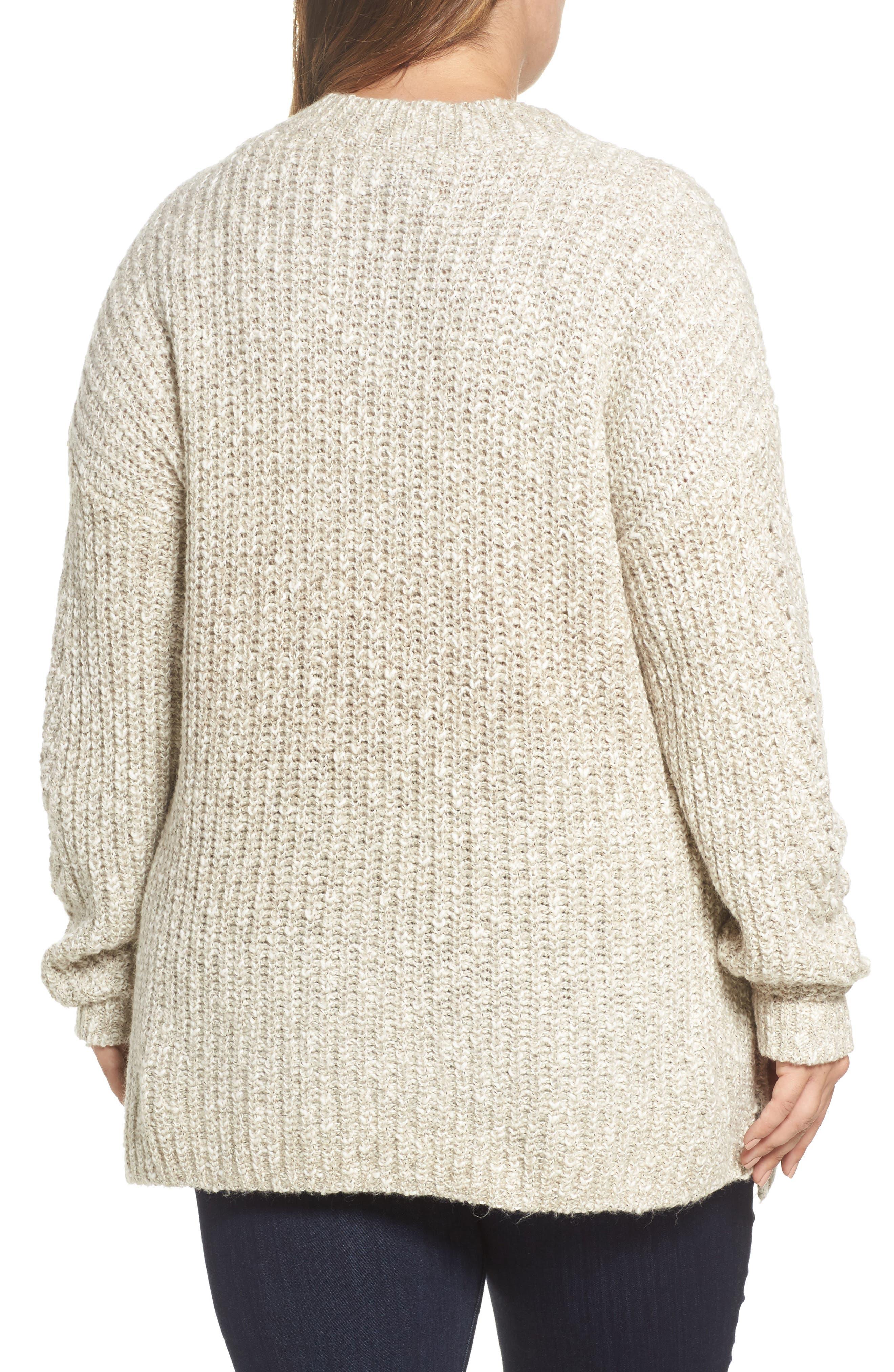 Open Stitch Sweater,                             Alternate thumbnail 2, color,                             Natural Multi
