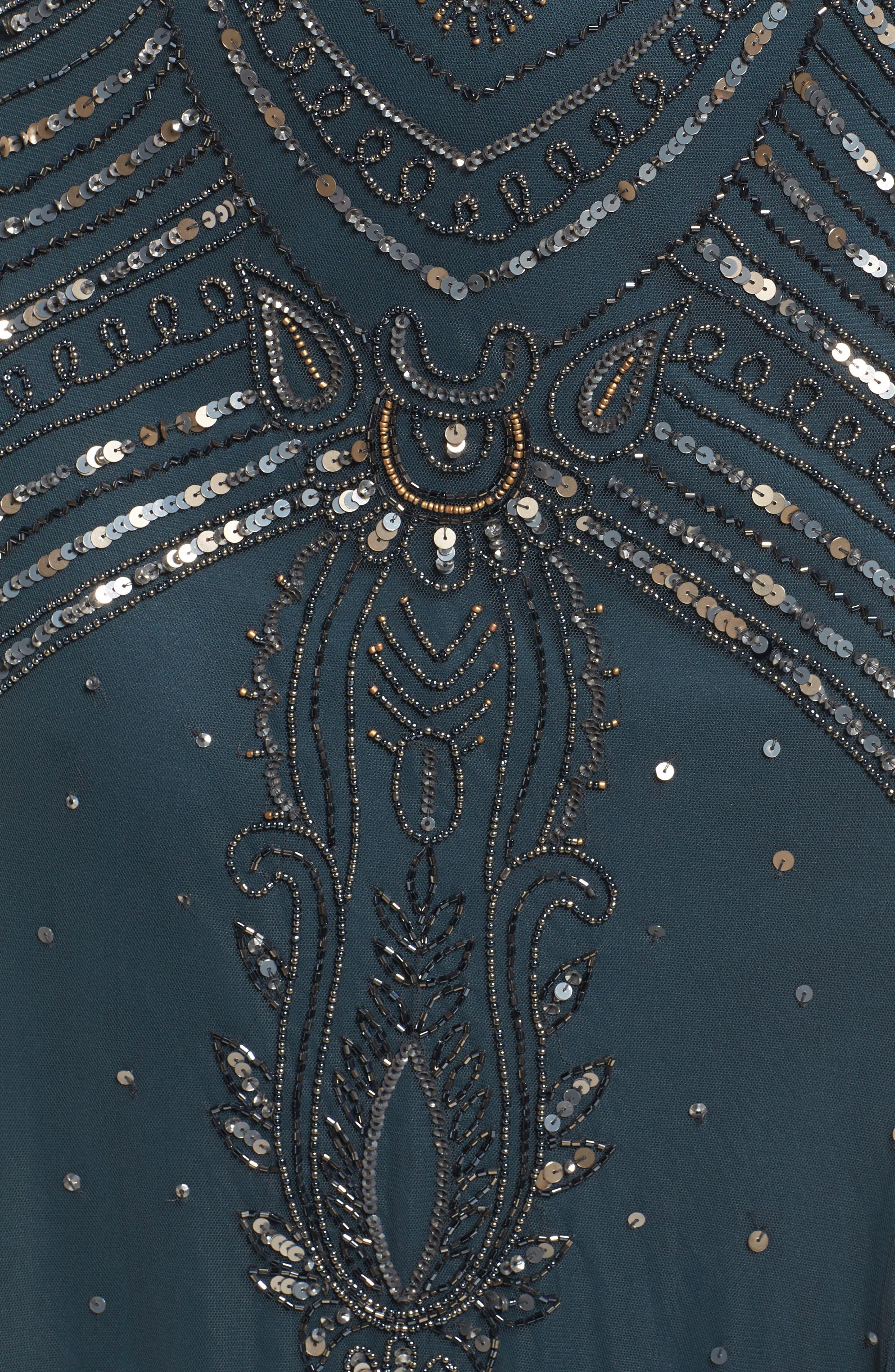 Alternate Image 5  - Pisarro Nights Beaded Mesh Gown (Plus Size)