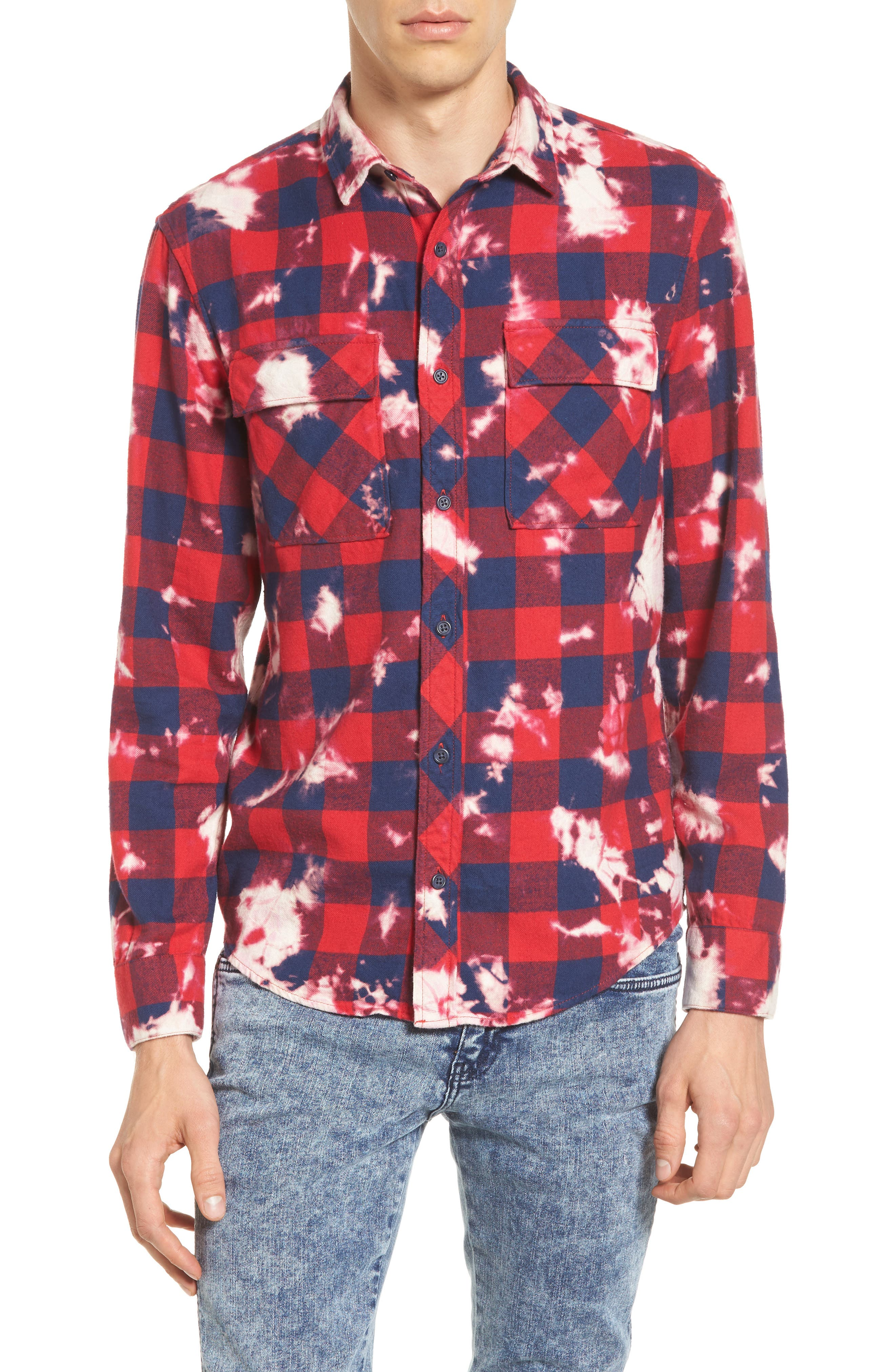 The Rail Bleach Plaid Shirt