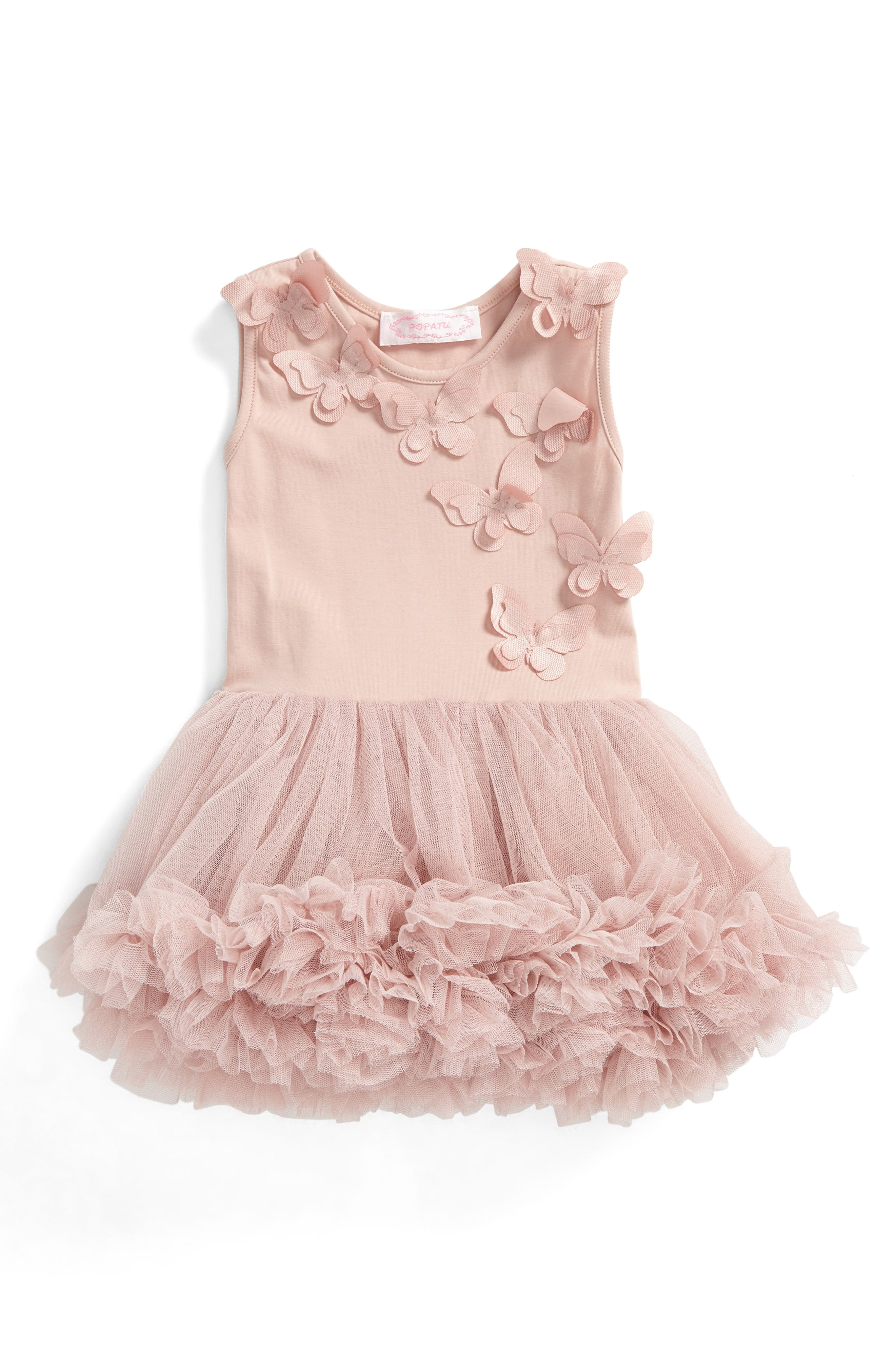 Butterfly Pettidress,                         Main,                         color, Dusty Pink