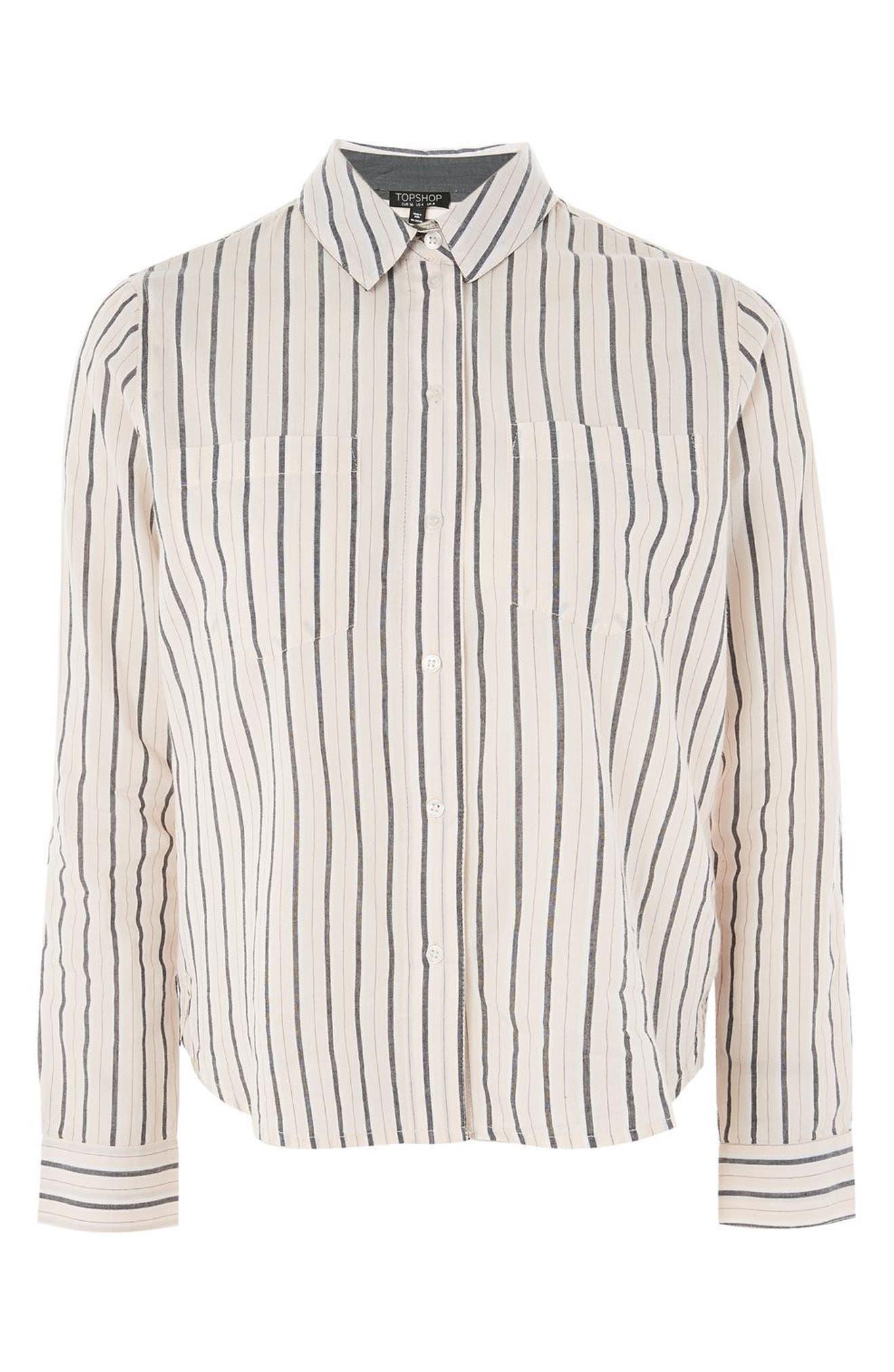 Stripe Shirt,                             Alternate thumbnail 3, color,                             Pink Multi