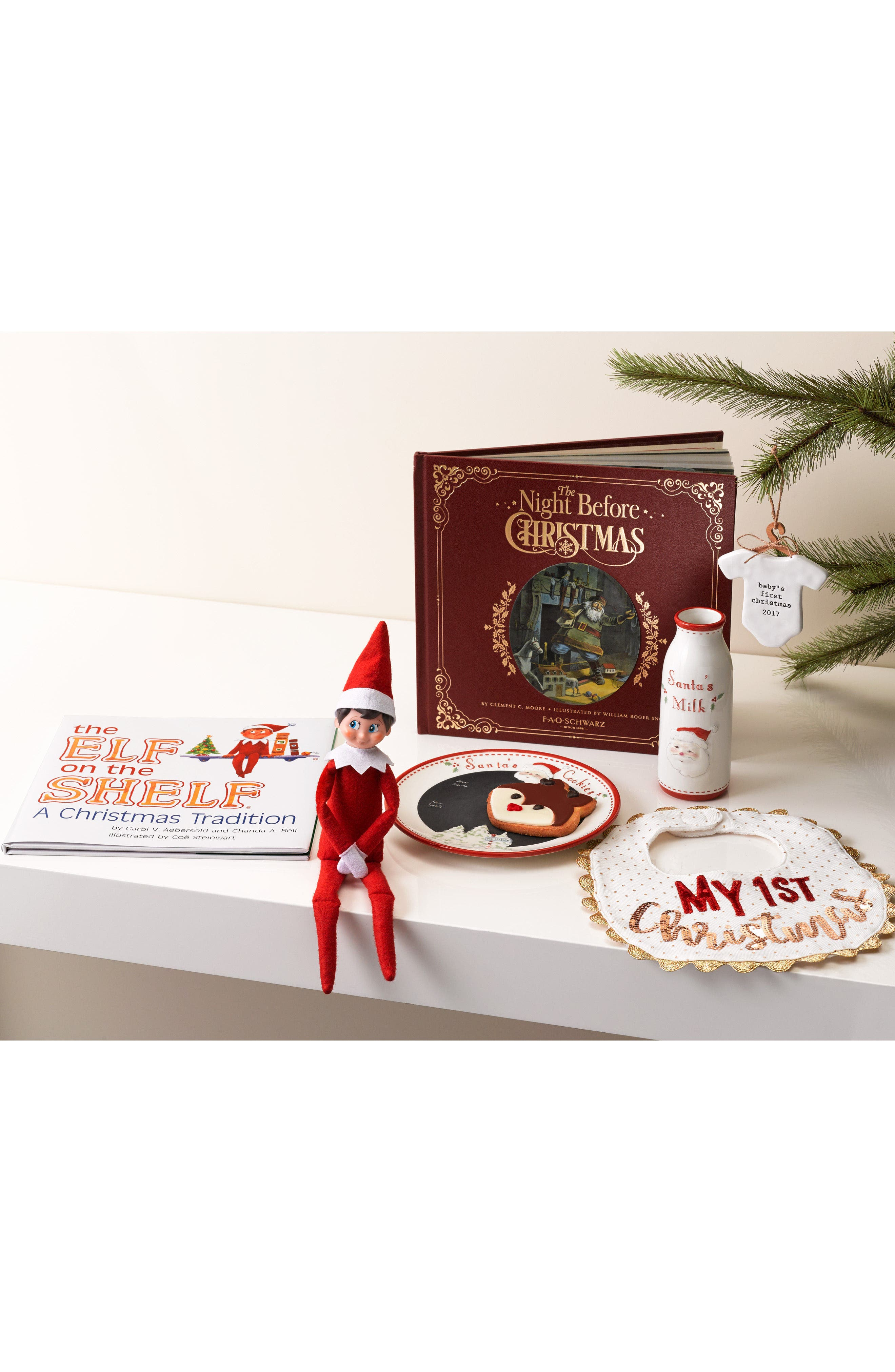 Alternate Image 3  - Mud Pie My First Christmas Bib (Baby)