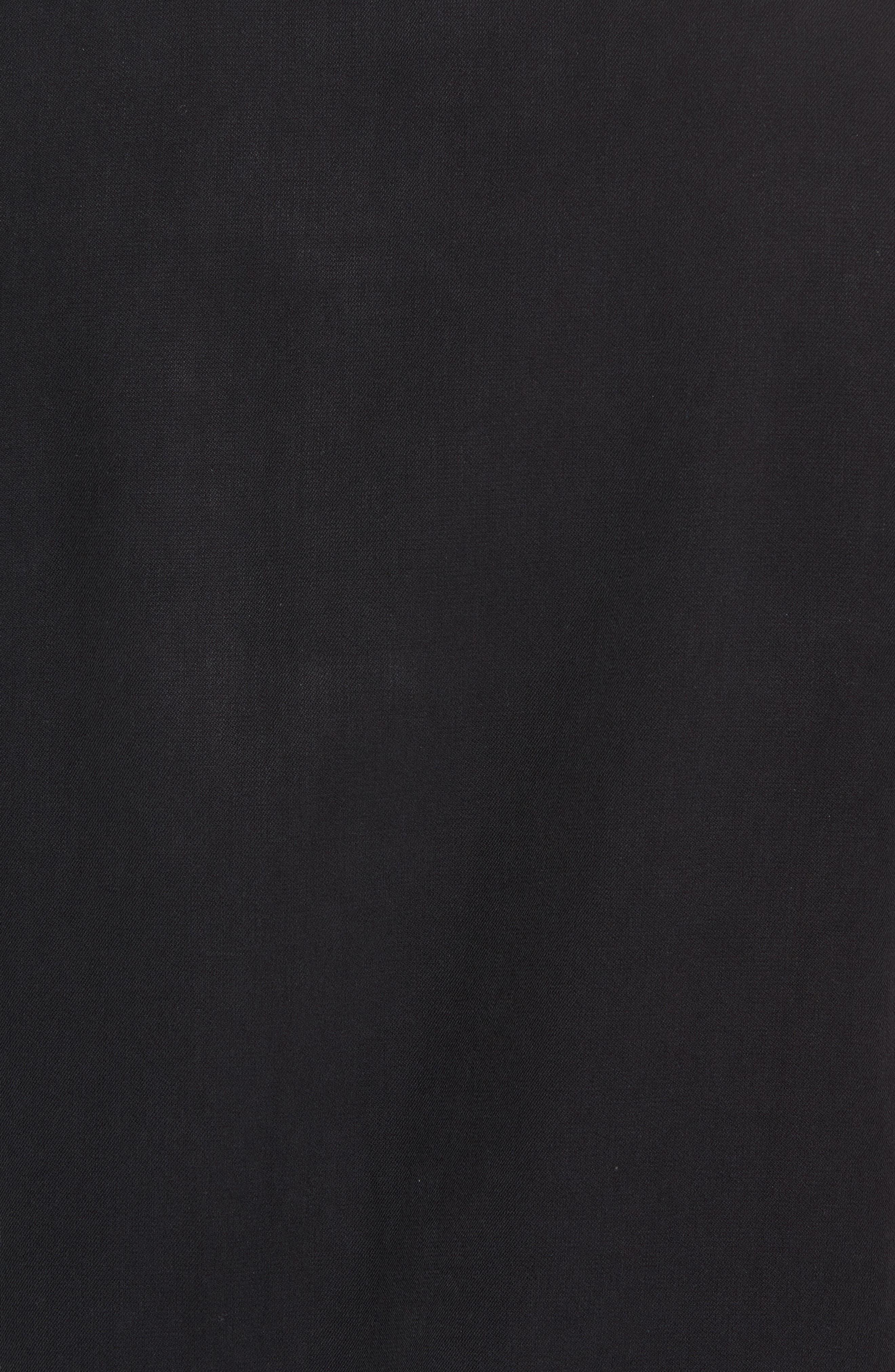 Black Diamond Regular Fit Embroidered Silk Blend Sport Shirt,                             Alternate thumbnail 5, color,                             Black