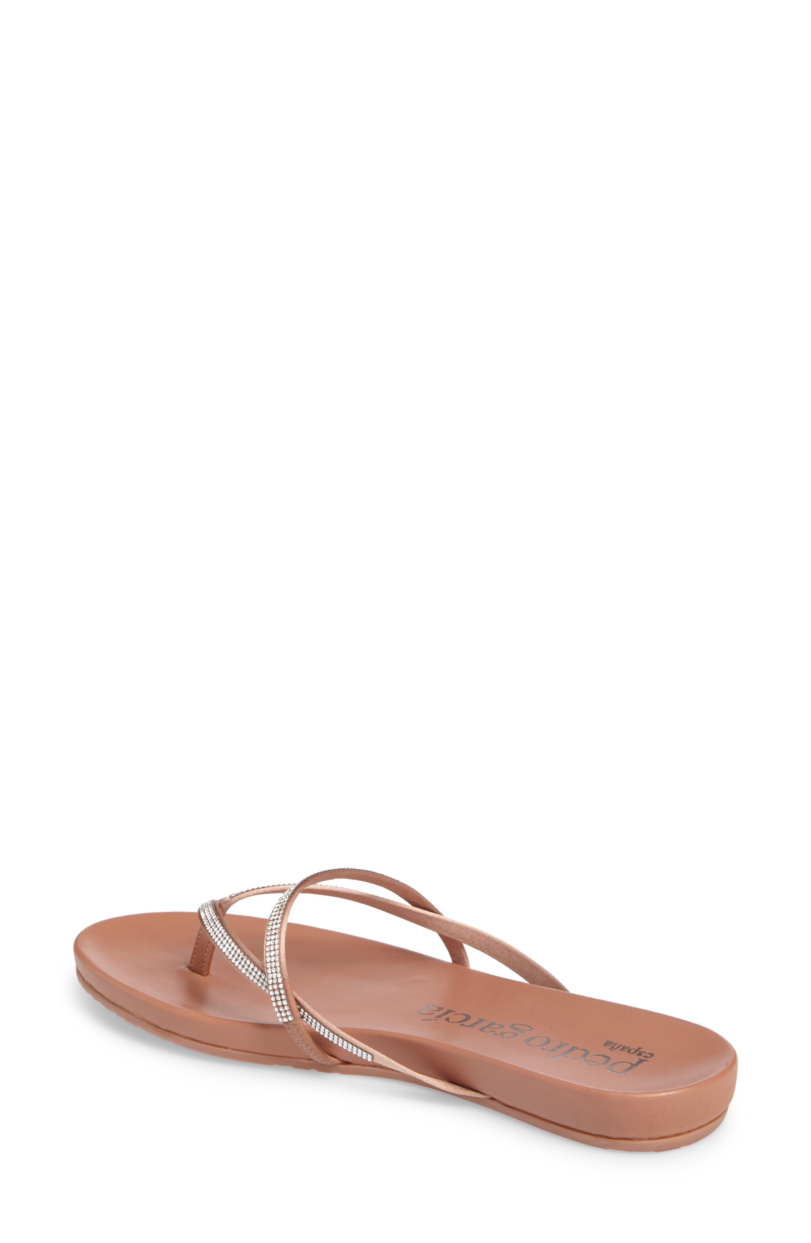Giulia Crystal Embellished Sandal,                             Alternate thumbnail 2, color,                             Bisque Satin