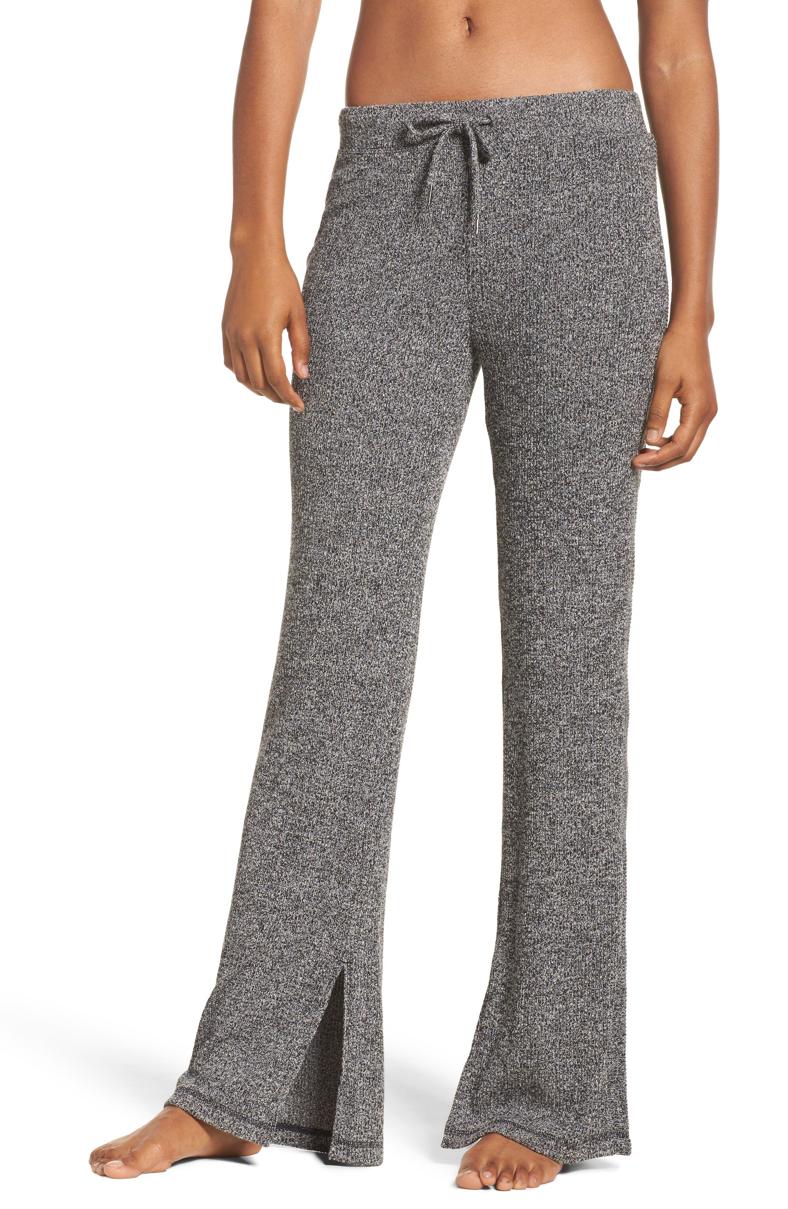 Alternate Image 1 Selected - Zella Mantra Ribbed Flare Pants
