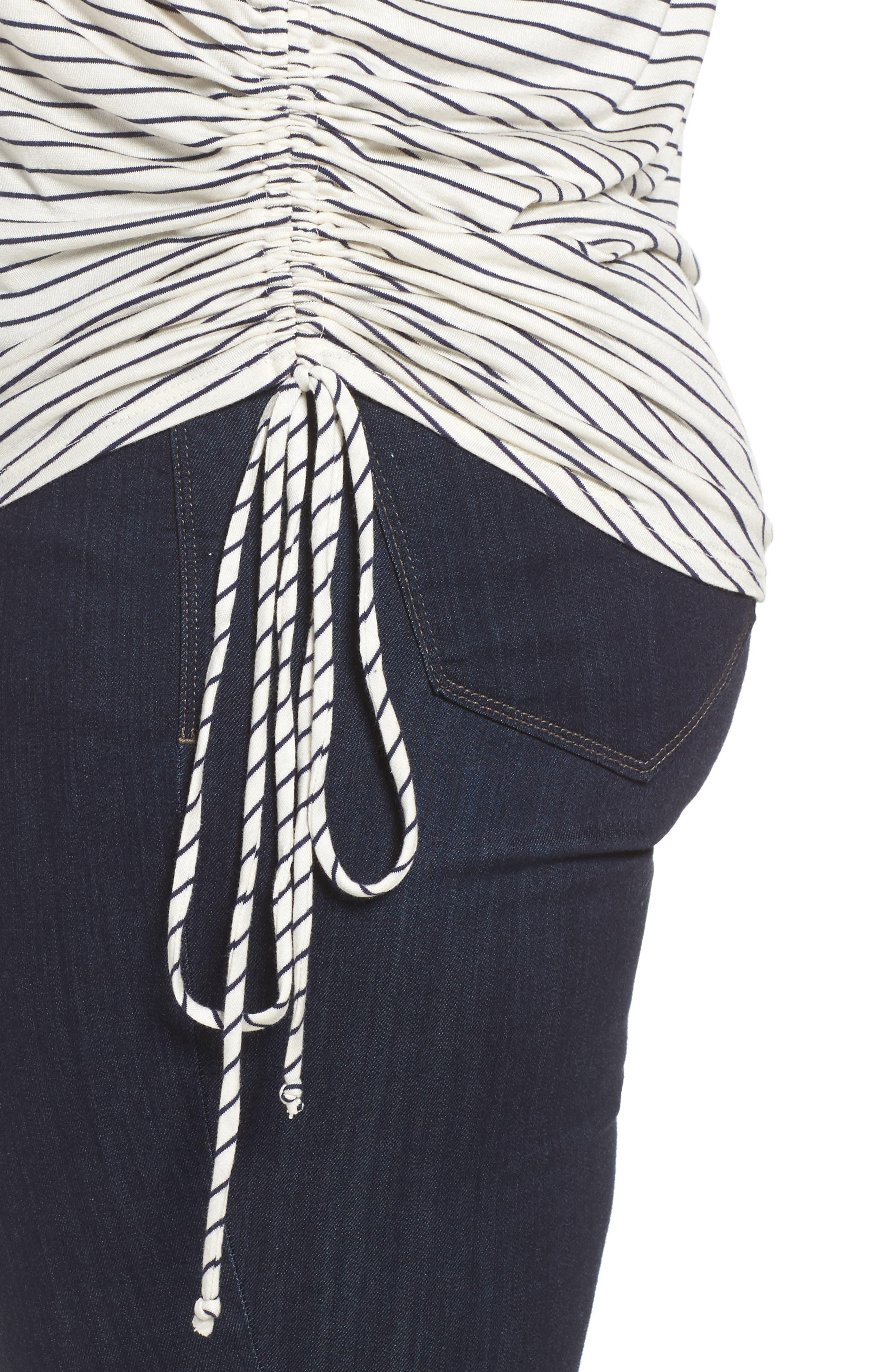 Alternate Image 4  - Sejour Drawstring Side V-Neck Top (Plus Size)