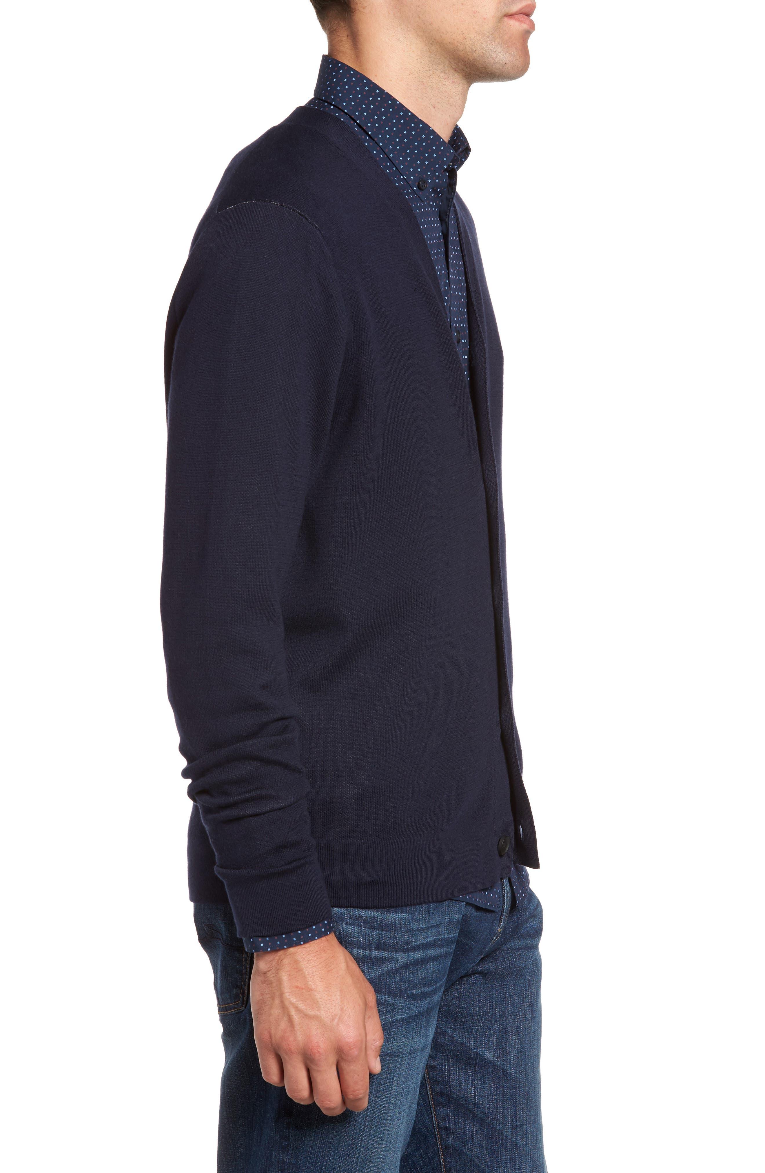 Alternate Image 3  - Nordstrom Men's Shop Pima Cotton Blend Cardigan