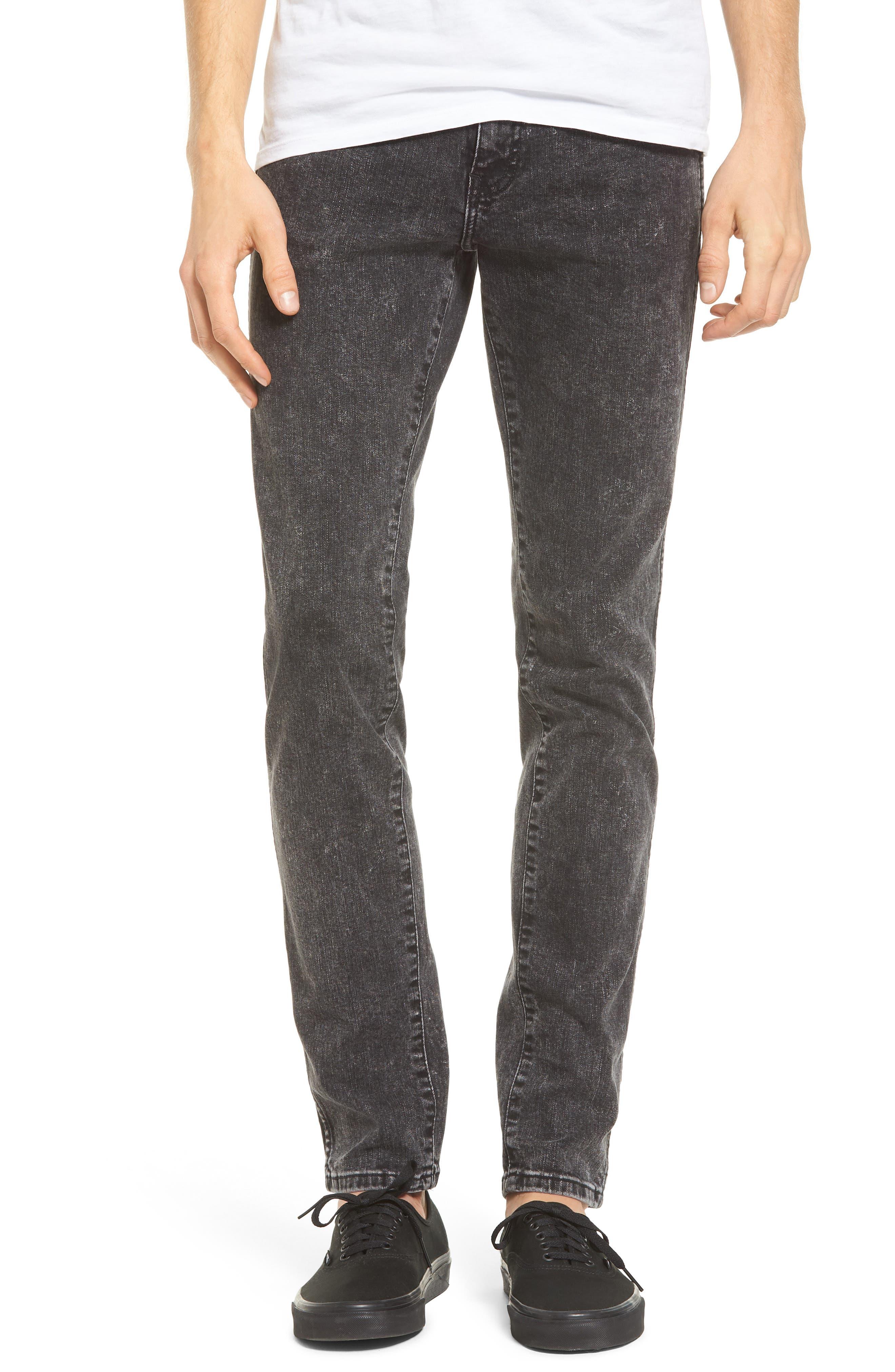 Alternate Image 1 Selected - Dr. Denim Supply Co. Snap Skinny Fit Jeans (Acid Black)