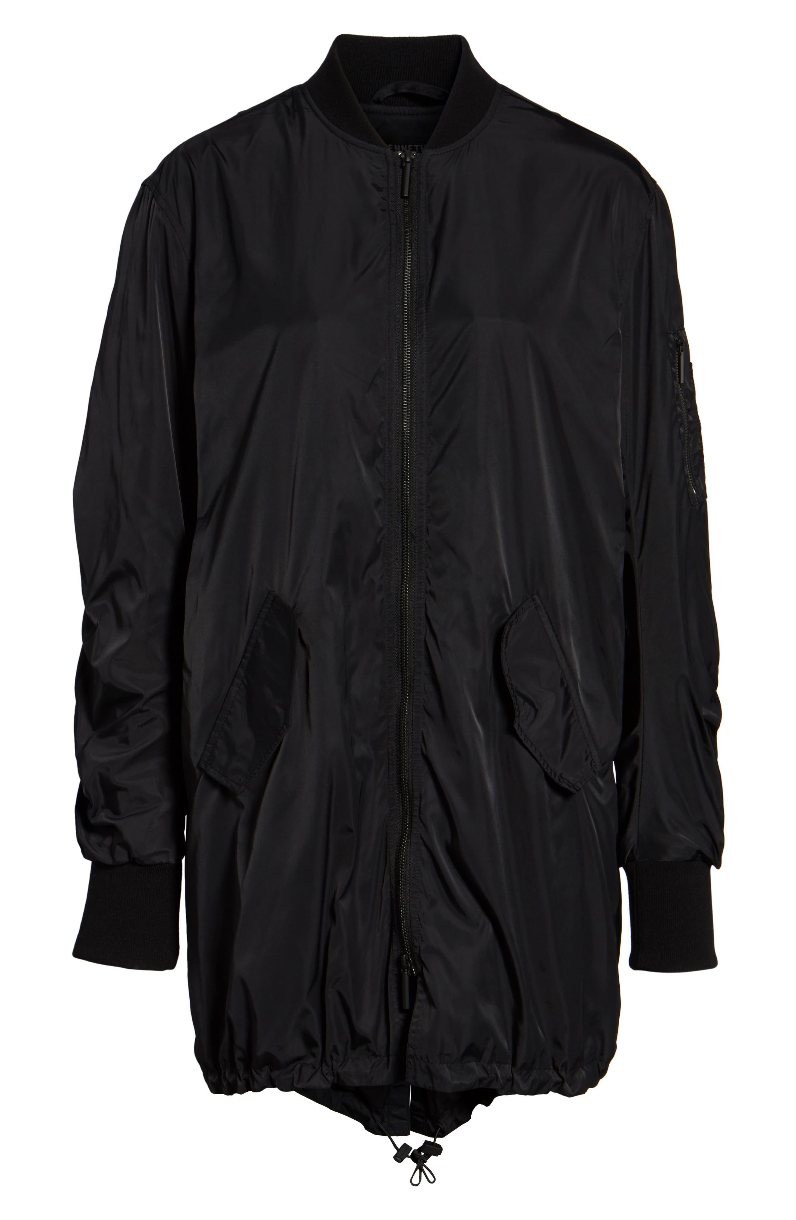Bomber Anorak Jacket,                             Alternate thumbnail 6, color,                             Black