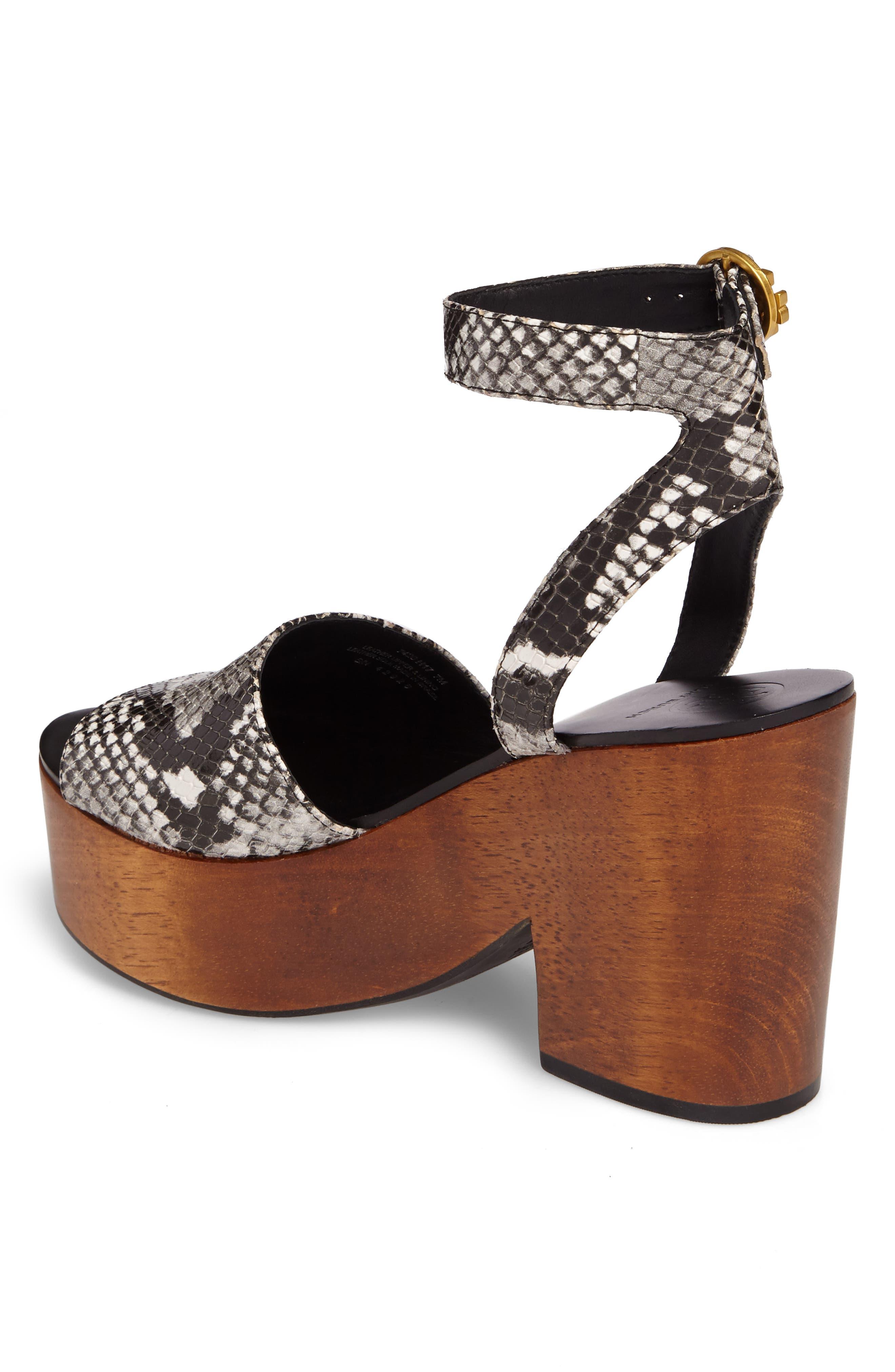Camilla Platform Sandal,                             Alternate thumbnail 2, color,                             Roccia Black/ White