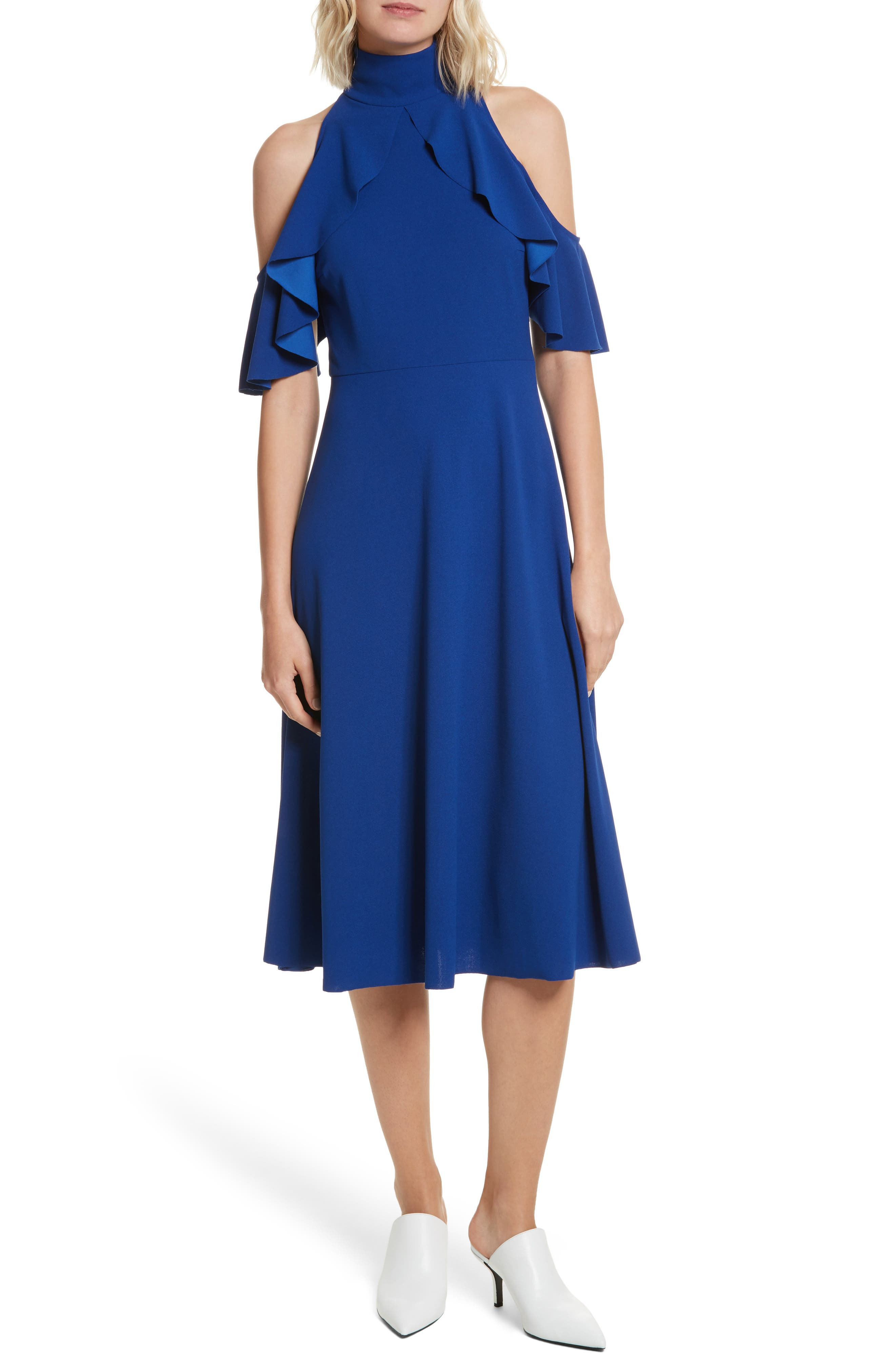 Midi Dress,                         Main,                         color, Marine