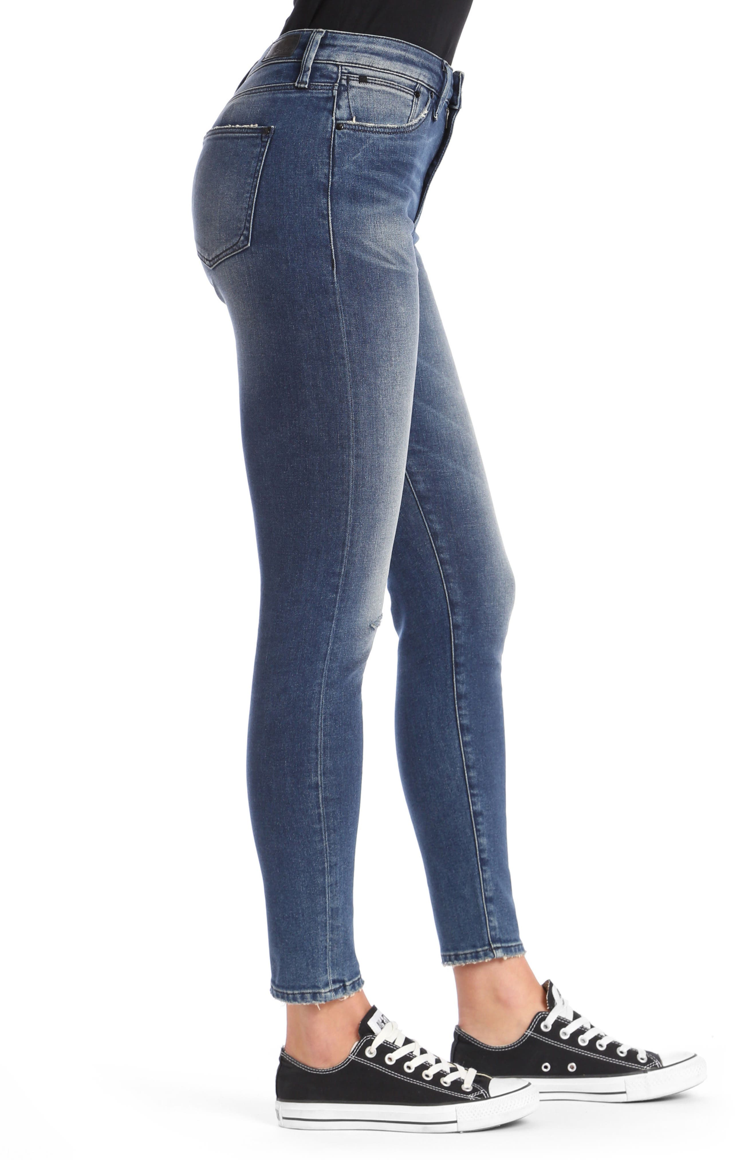 Lucy Skinny Jeans,                             Alternate thumbnail 2, color,                             Dark Vintage Gold Icon