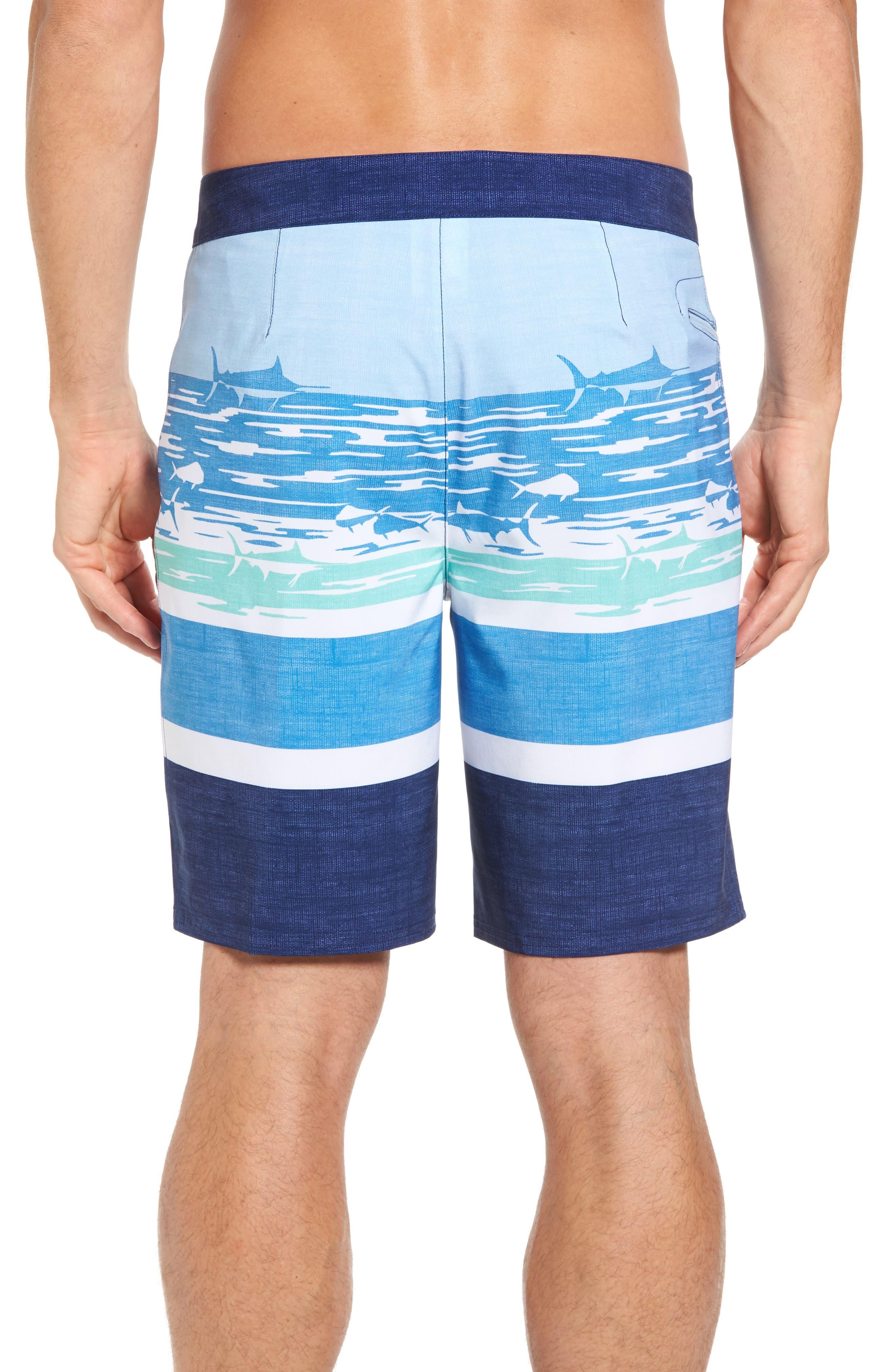 At Sea Scenic Board Shorts,                             Alternate thumbnail 2, color,                             Deep Bay