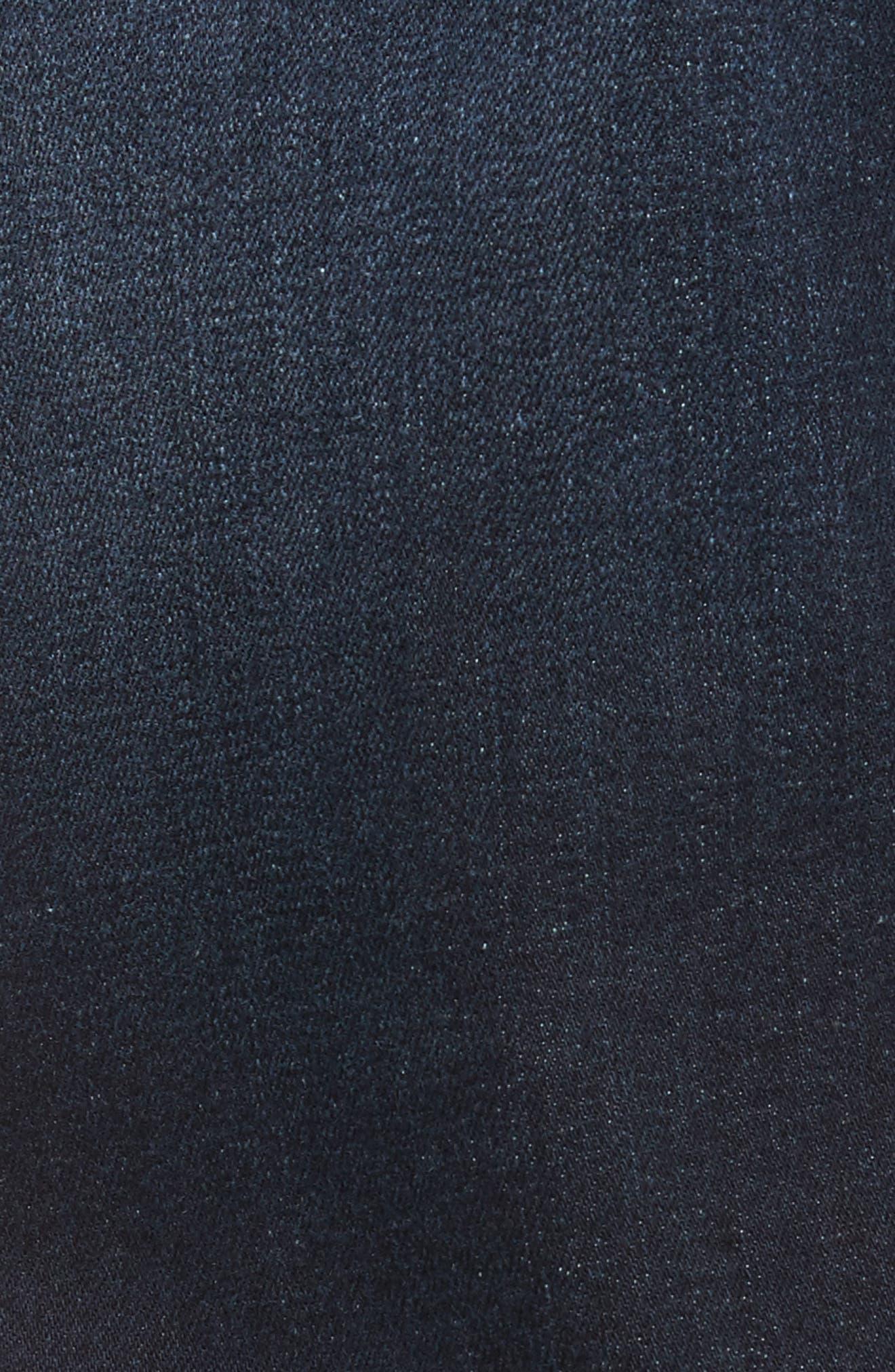 Clark Sim Straight Fit Jeans,                             Alternate thumbnail 5, color,                             Worn Dark Blue