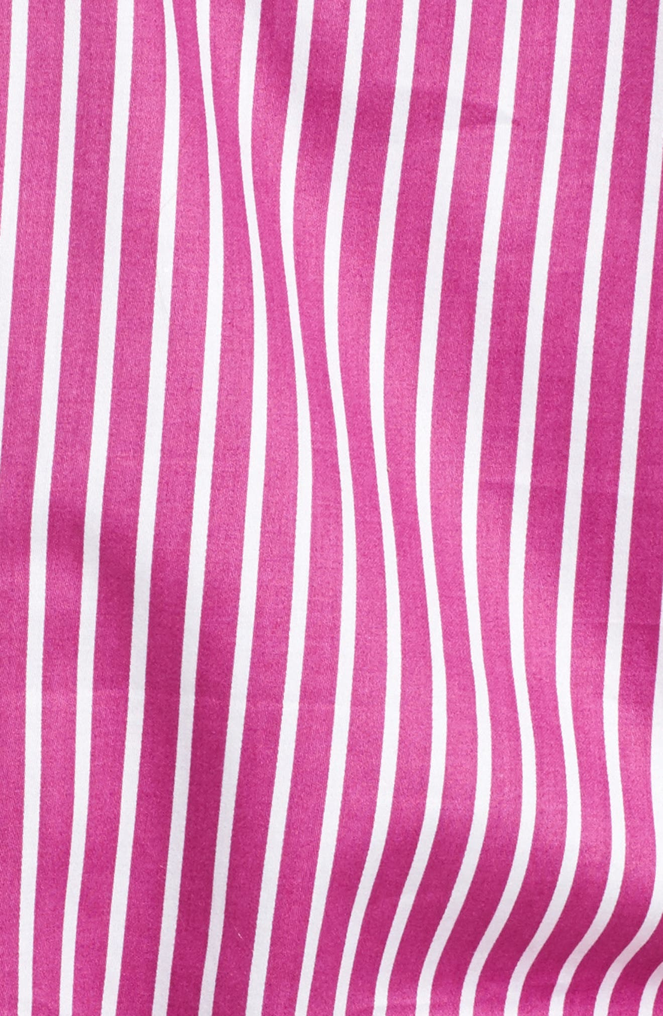 Notch Collar Pajamas,                             Alternate thumbnail 5, color,                             Pink/ White Stripe